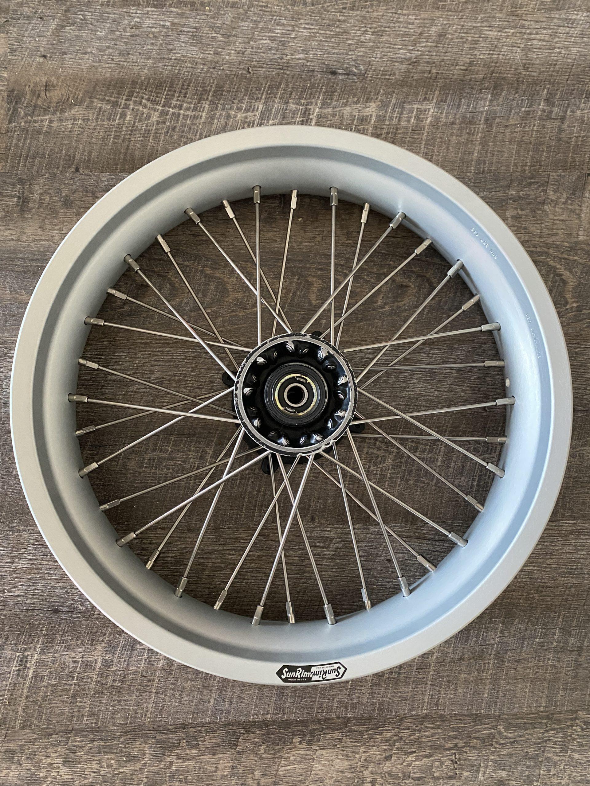 final built motorcycle wheel