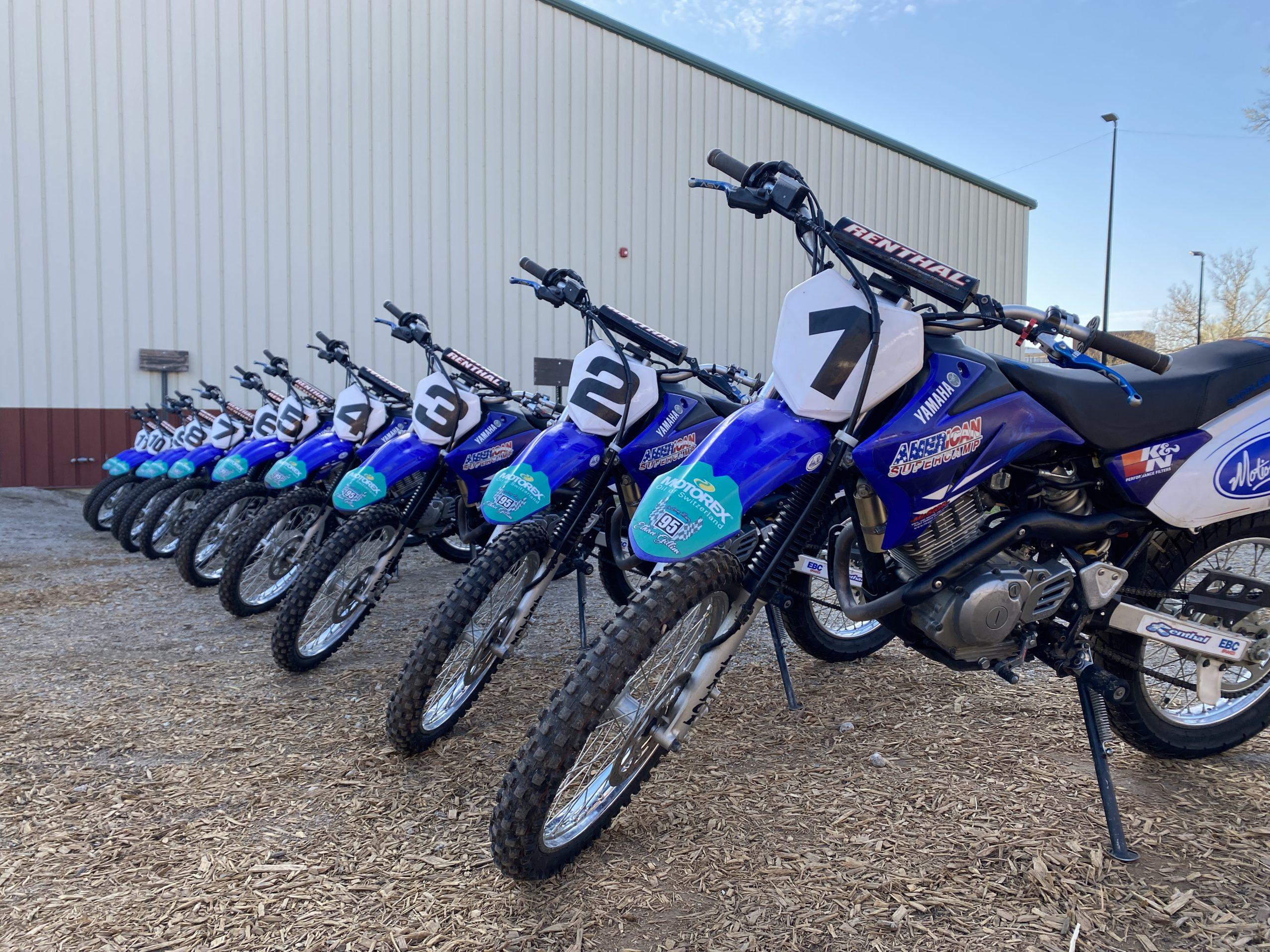Yamaha TTR125 lineup at Supercamp
