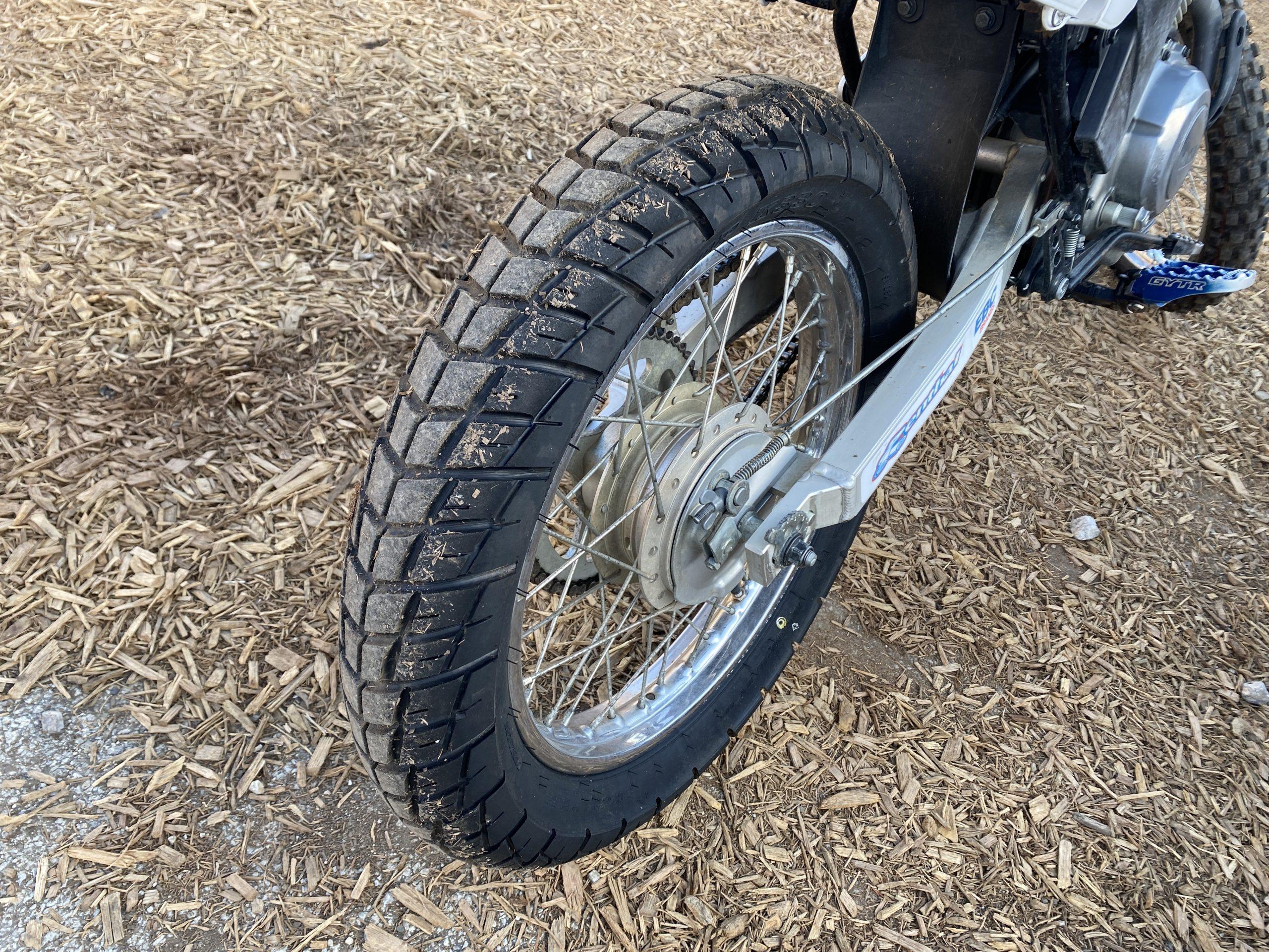 Yamaha TTR125 Dunlop rear tire