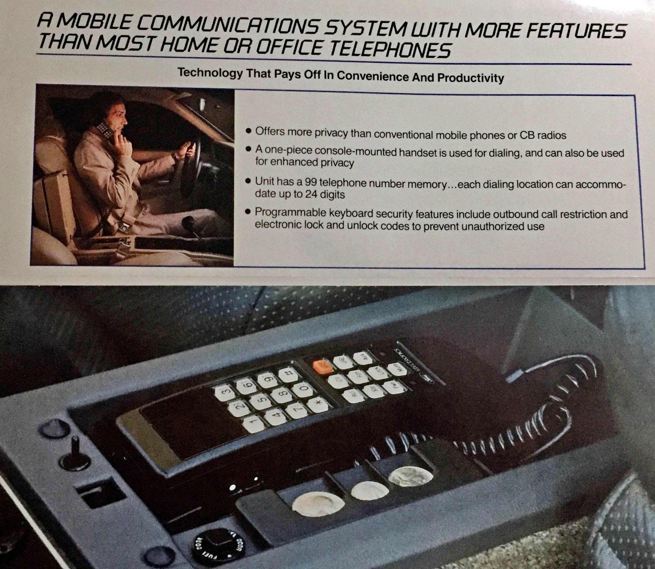 1985 Continental Mark VII LSC cell phone