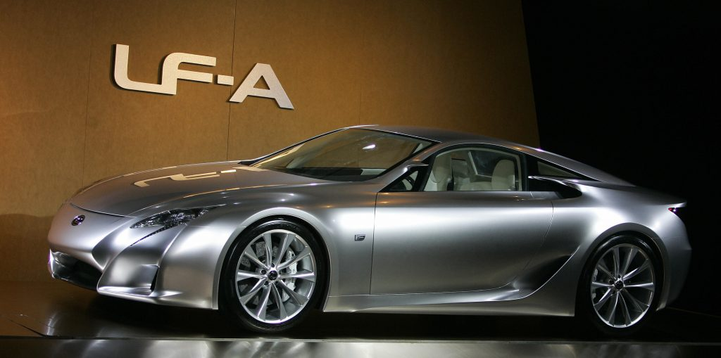 Lexus concept LF-A is shown on January 8th, 2007 at North American International Auto Show at Cobo Hall in Detroit Michigan