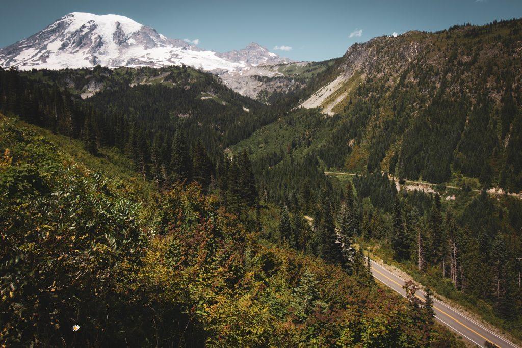 Mount Ranier and surrounding landscape