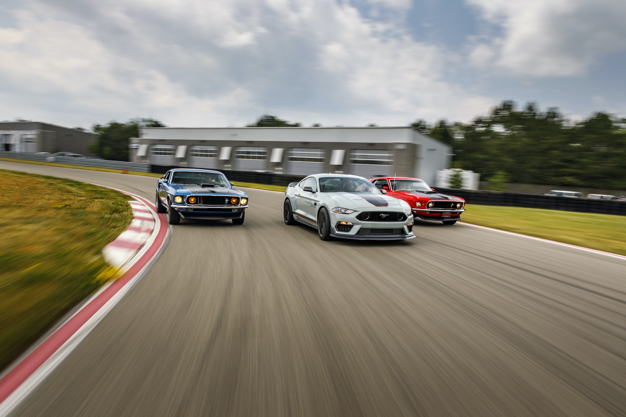2021 Mustang Mach 1 new with classics on track action