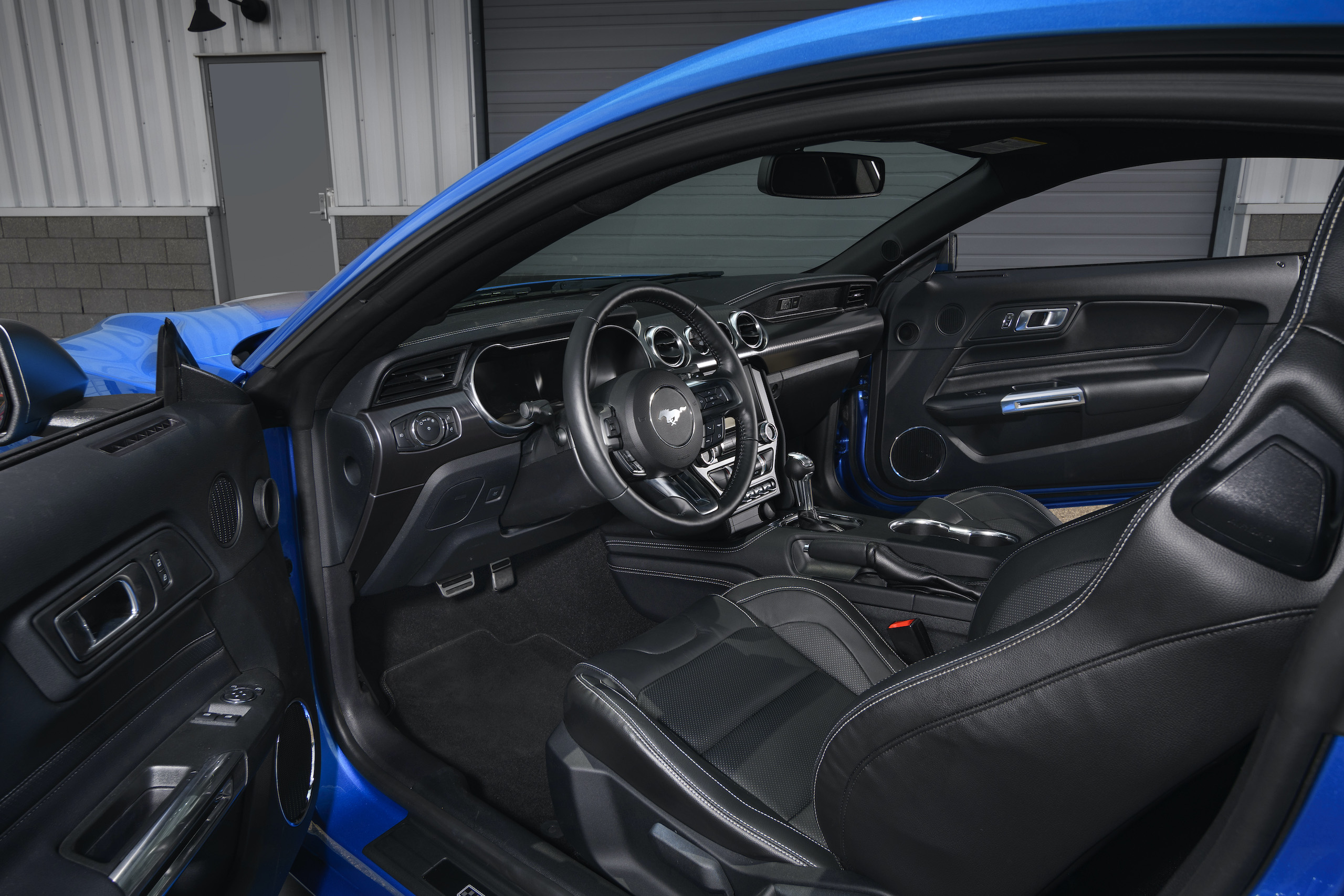 2021 Mustang Mach 1 blue interior driver side