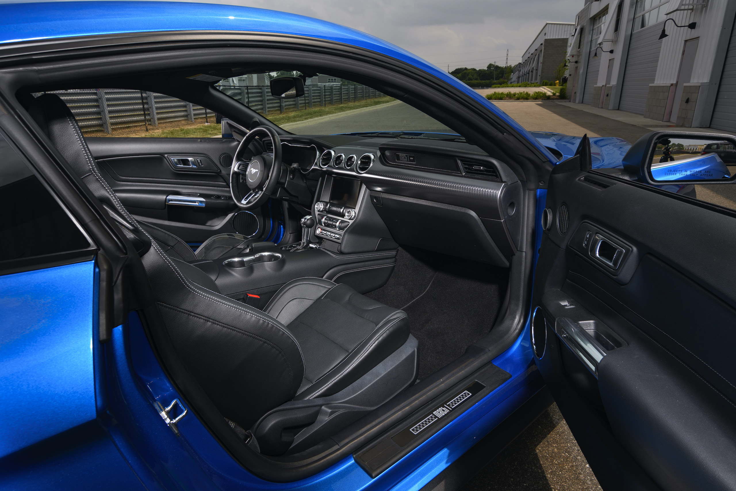 2021 Mustang Mach 1 blue interior passenger side