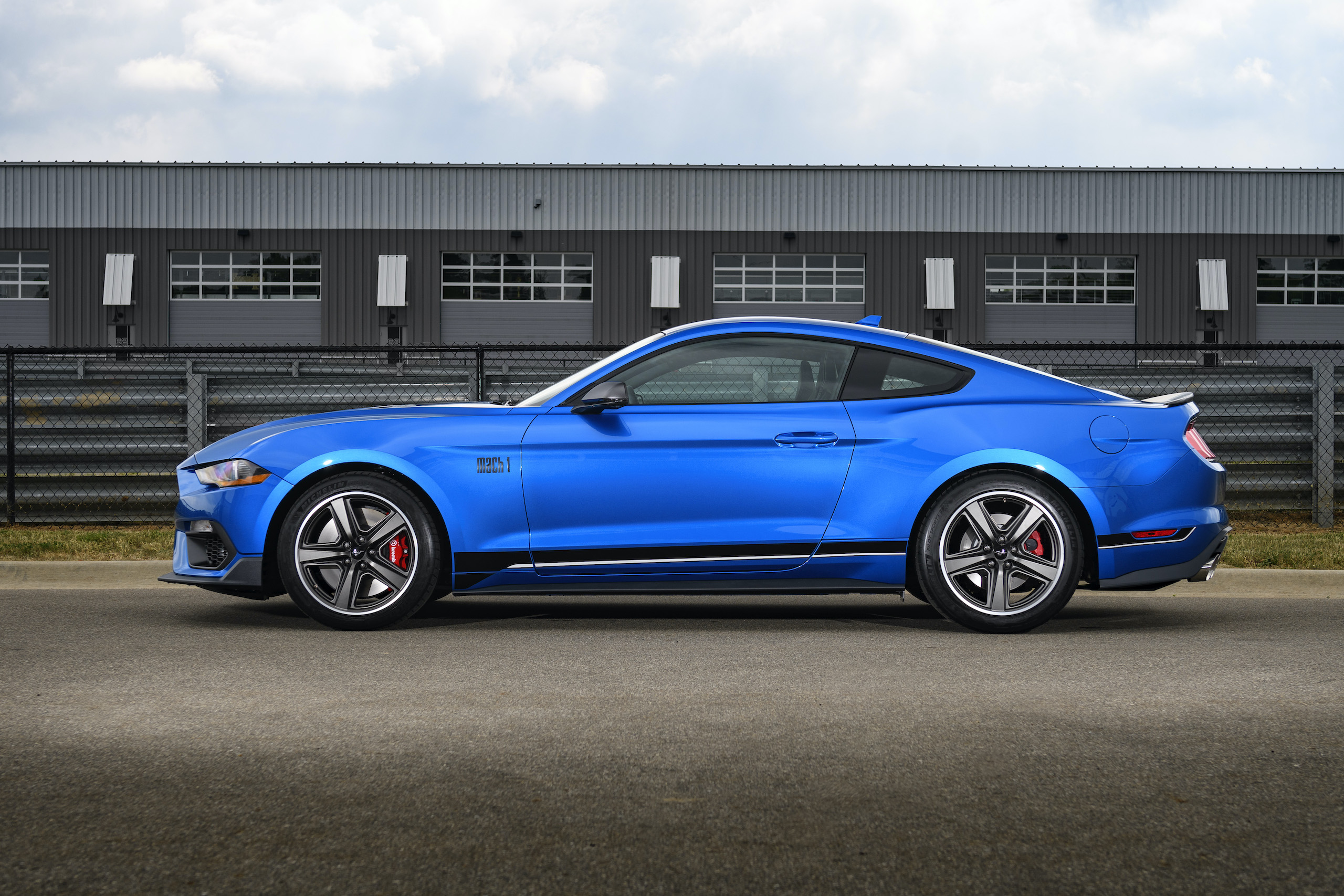 2021 Mustang Mach 1 blue side profile