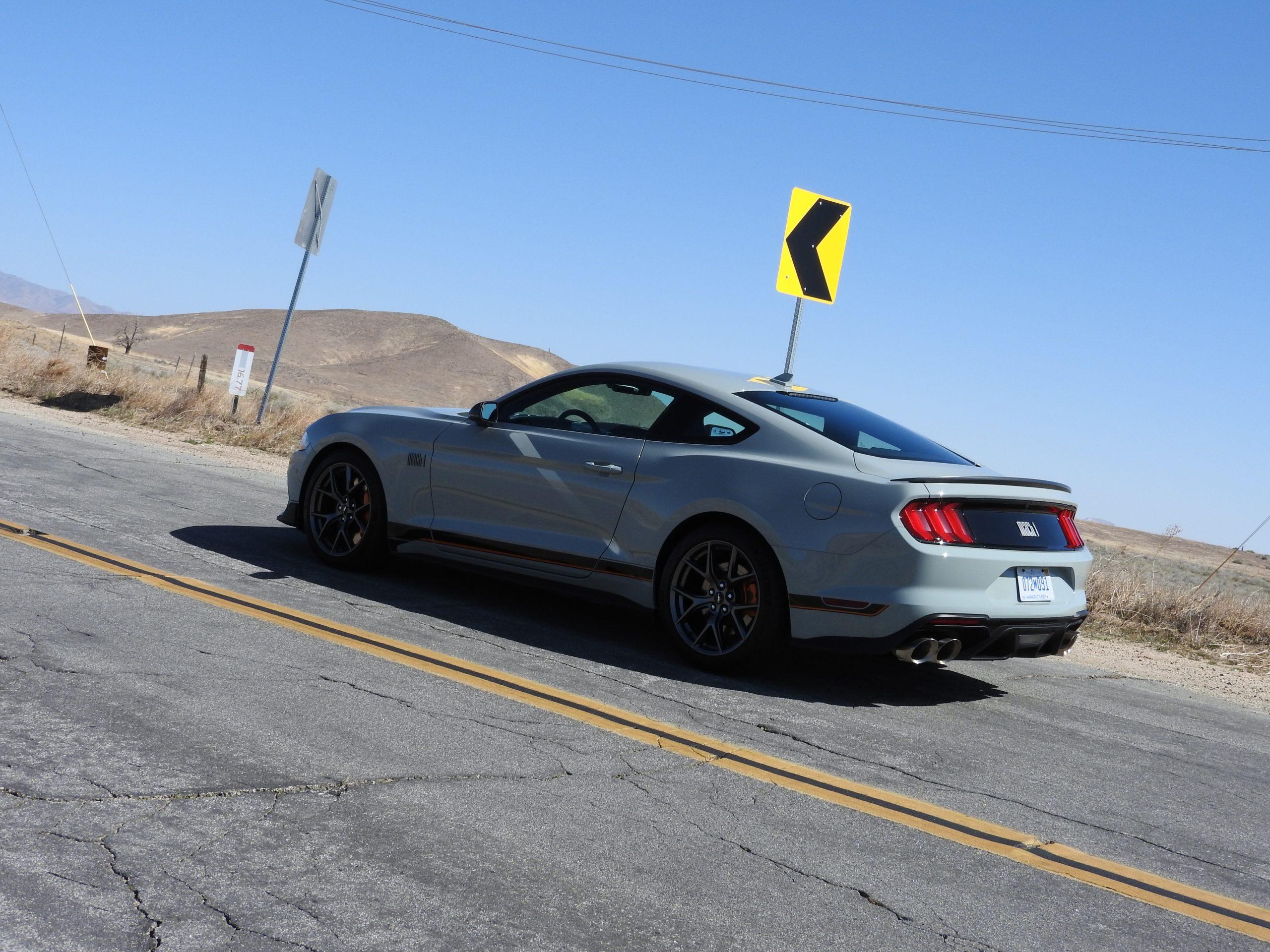 New Mustang Mach 1 rear three-quarter
