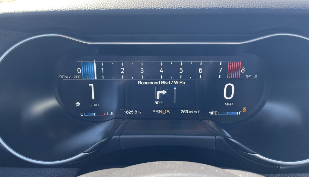 New Mustang Mach 1 interior digital gauges