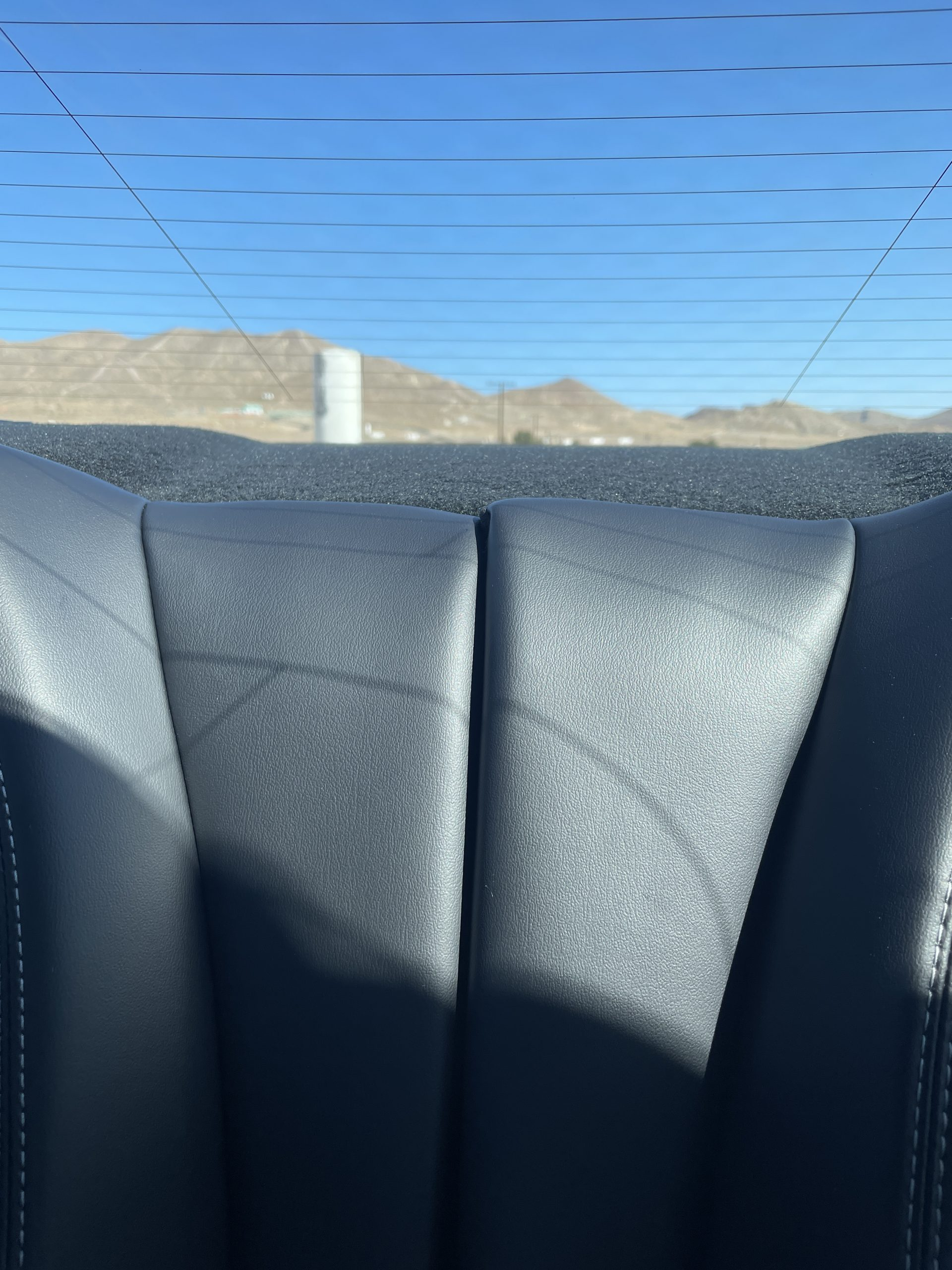 New Mustang Mach 1 rear seat seam