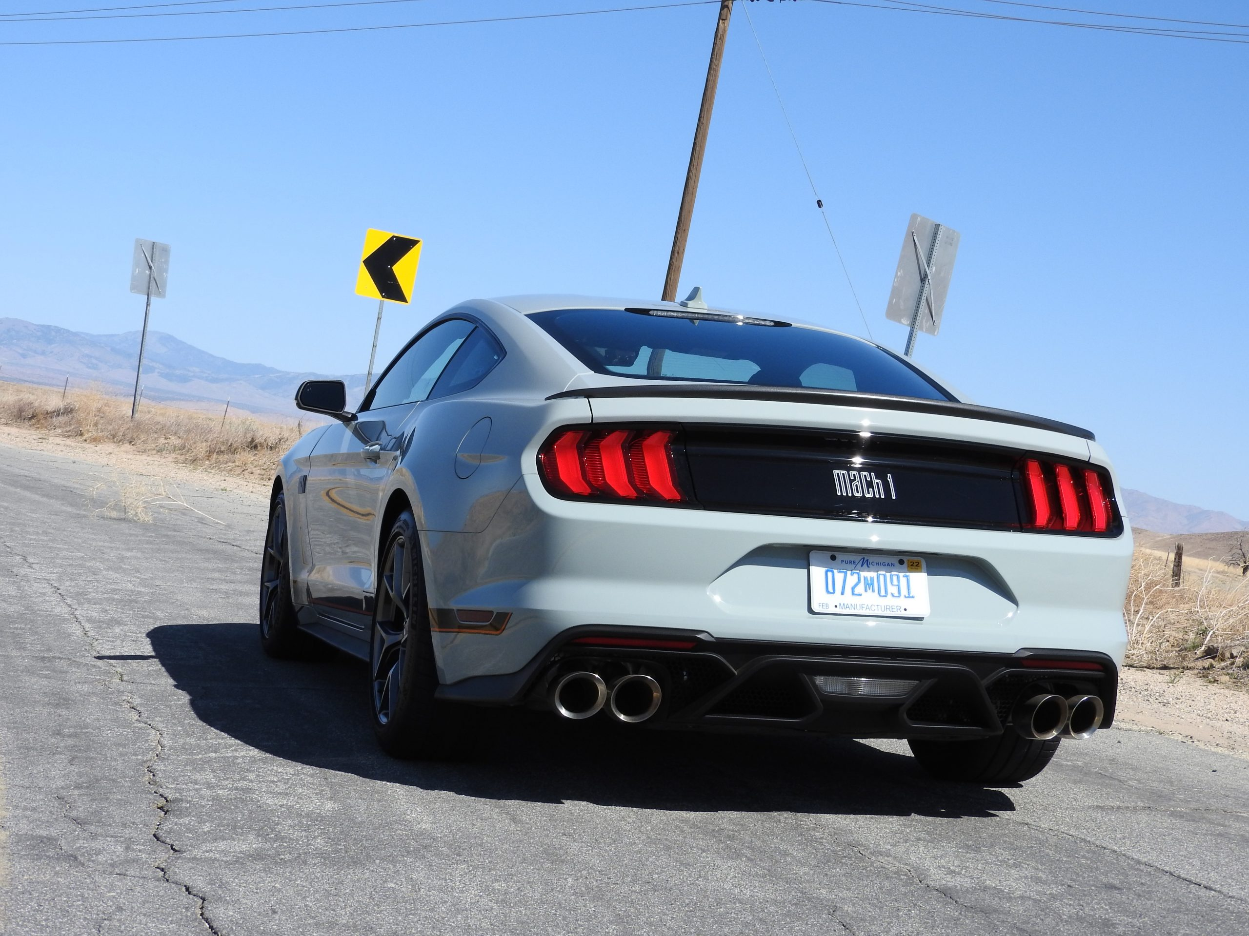New Mustang Mach 1 rear three-quarter