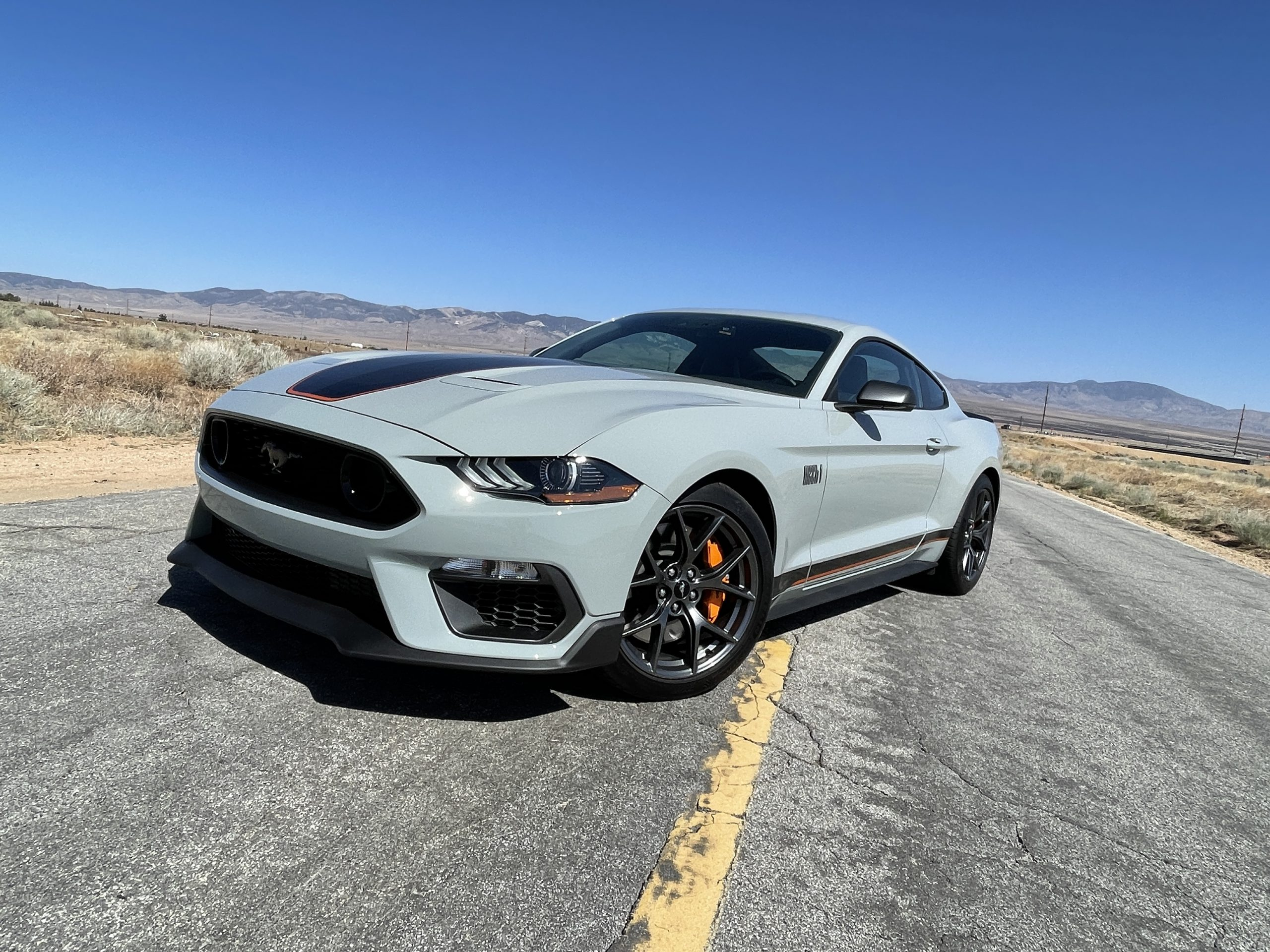 New Mustang Mach 1 front three-quarter offset