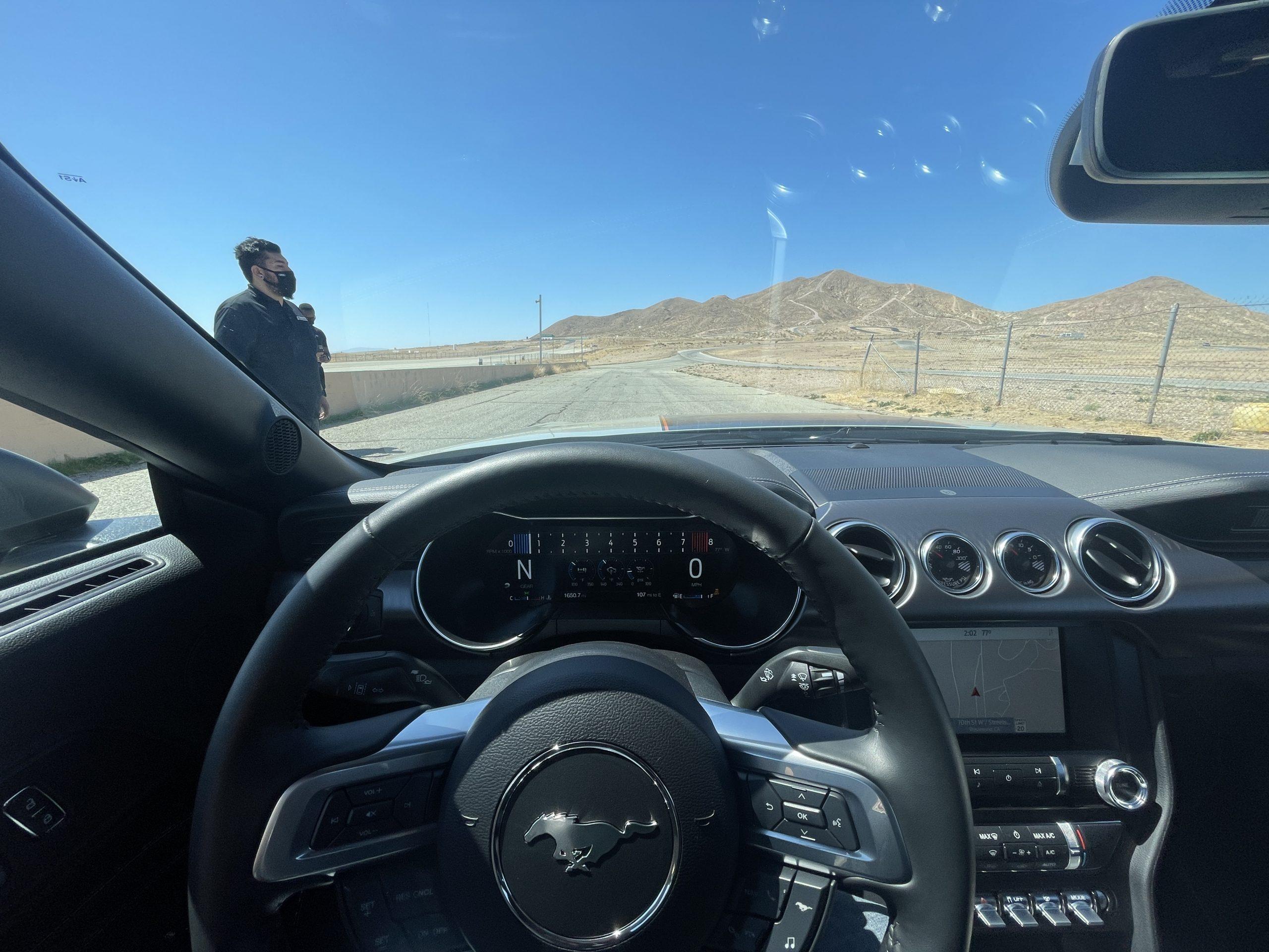 New Mustang Mach 1 interior driver cockpit