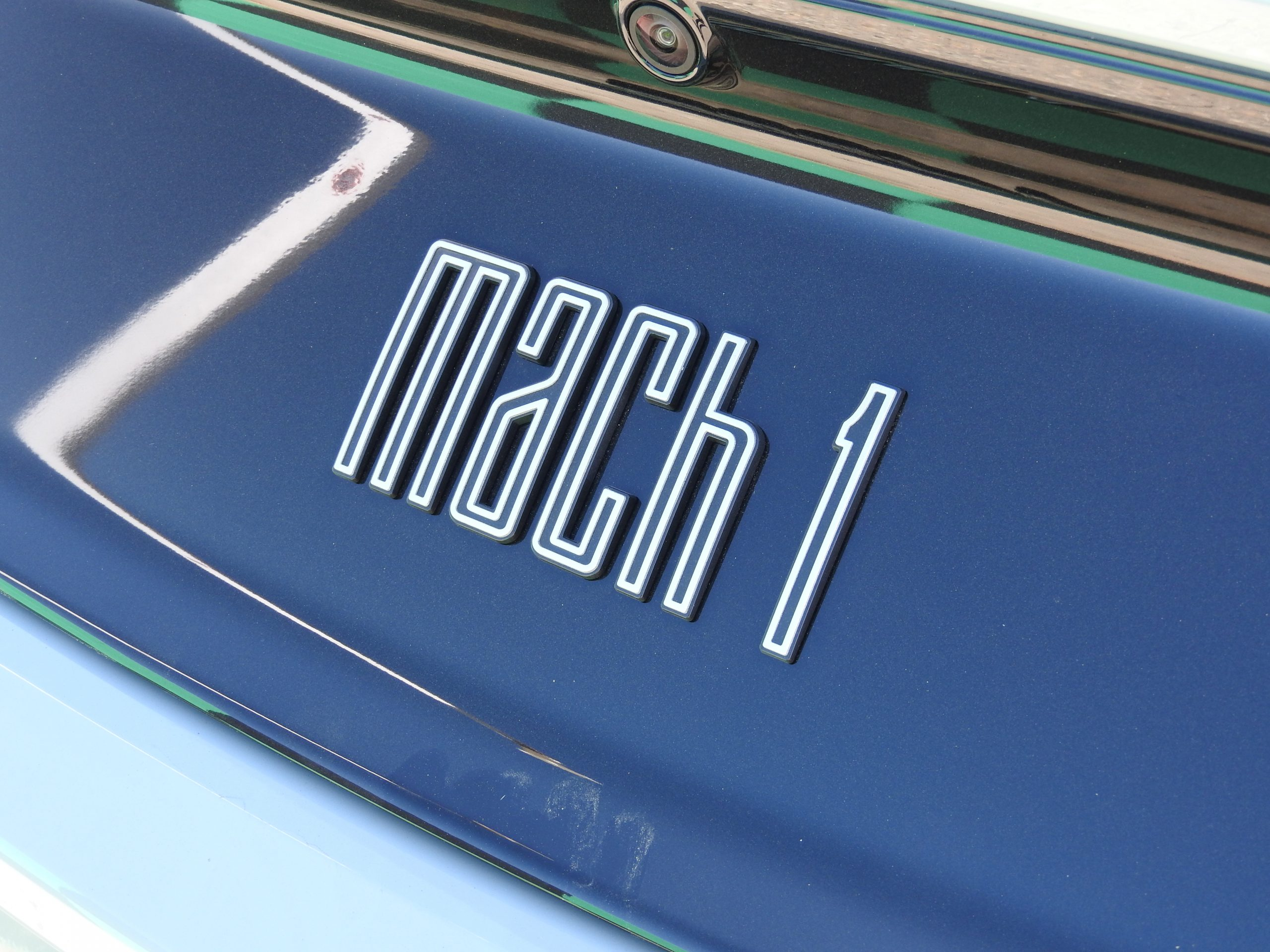 New Mustang Mach 1 badge detail