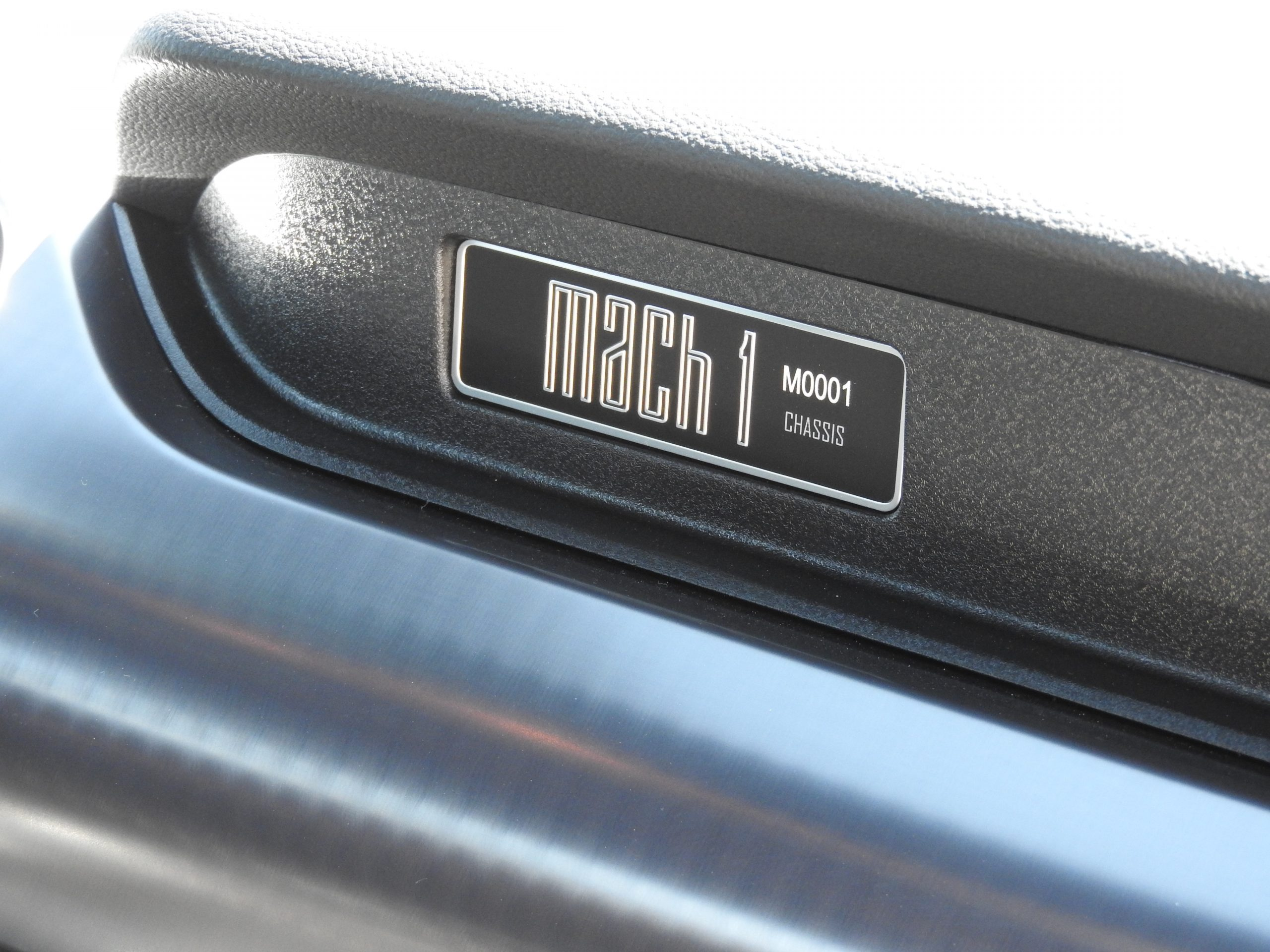 New Mustang Mach 1 mach chassis emblem