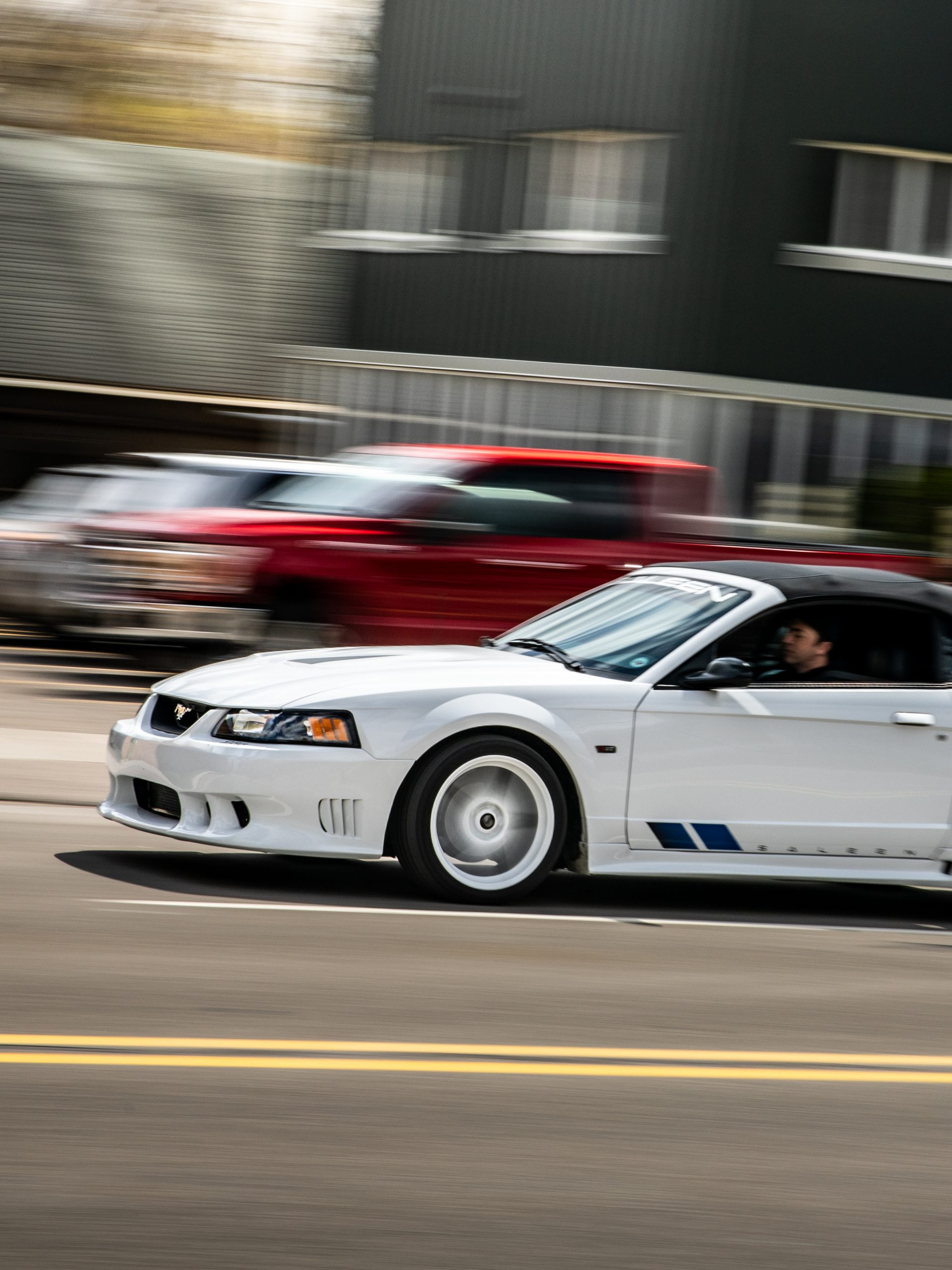 Mustang Week saleen driving action