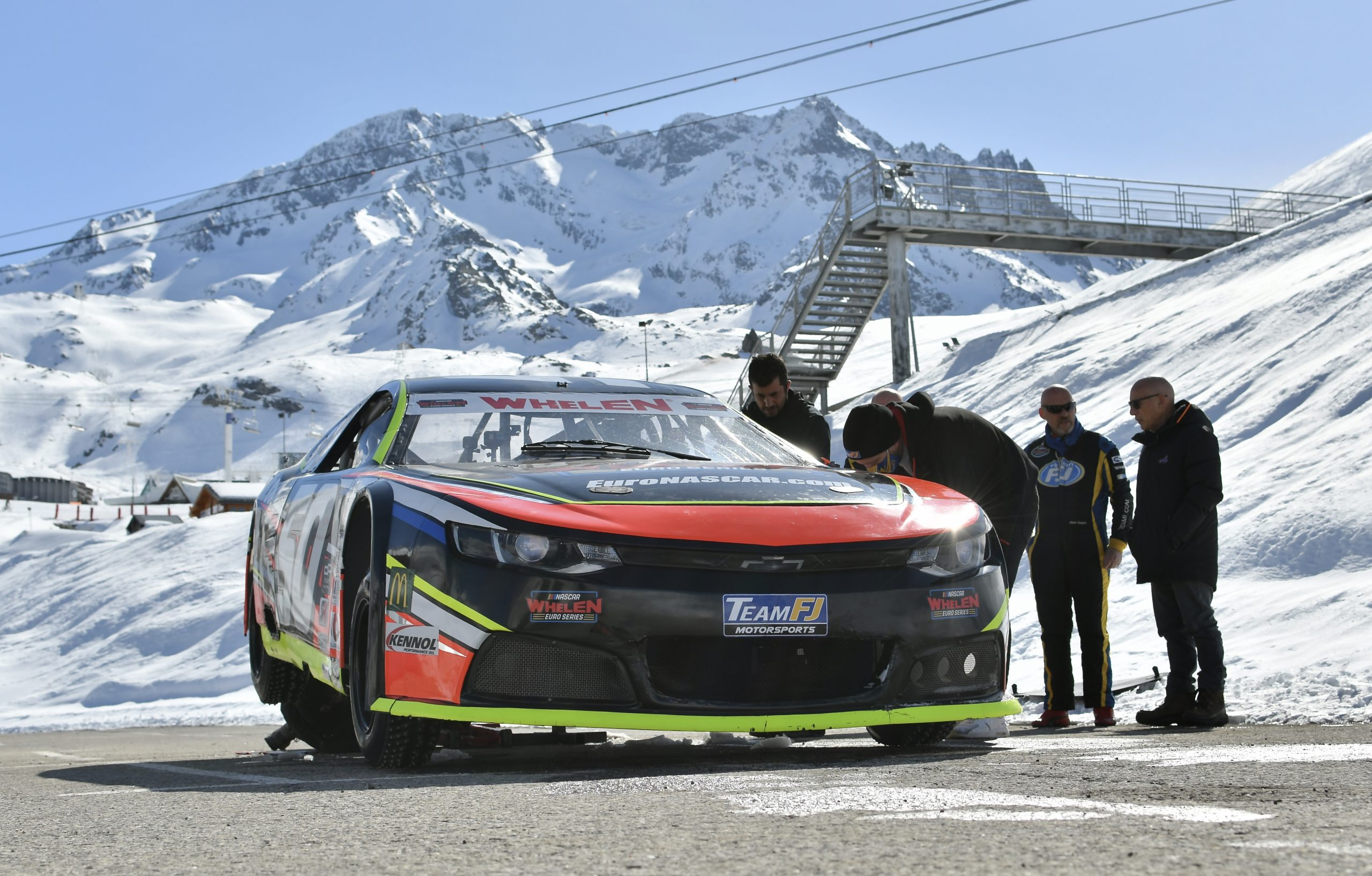 NASCAR on ice front stop maintenance
