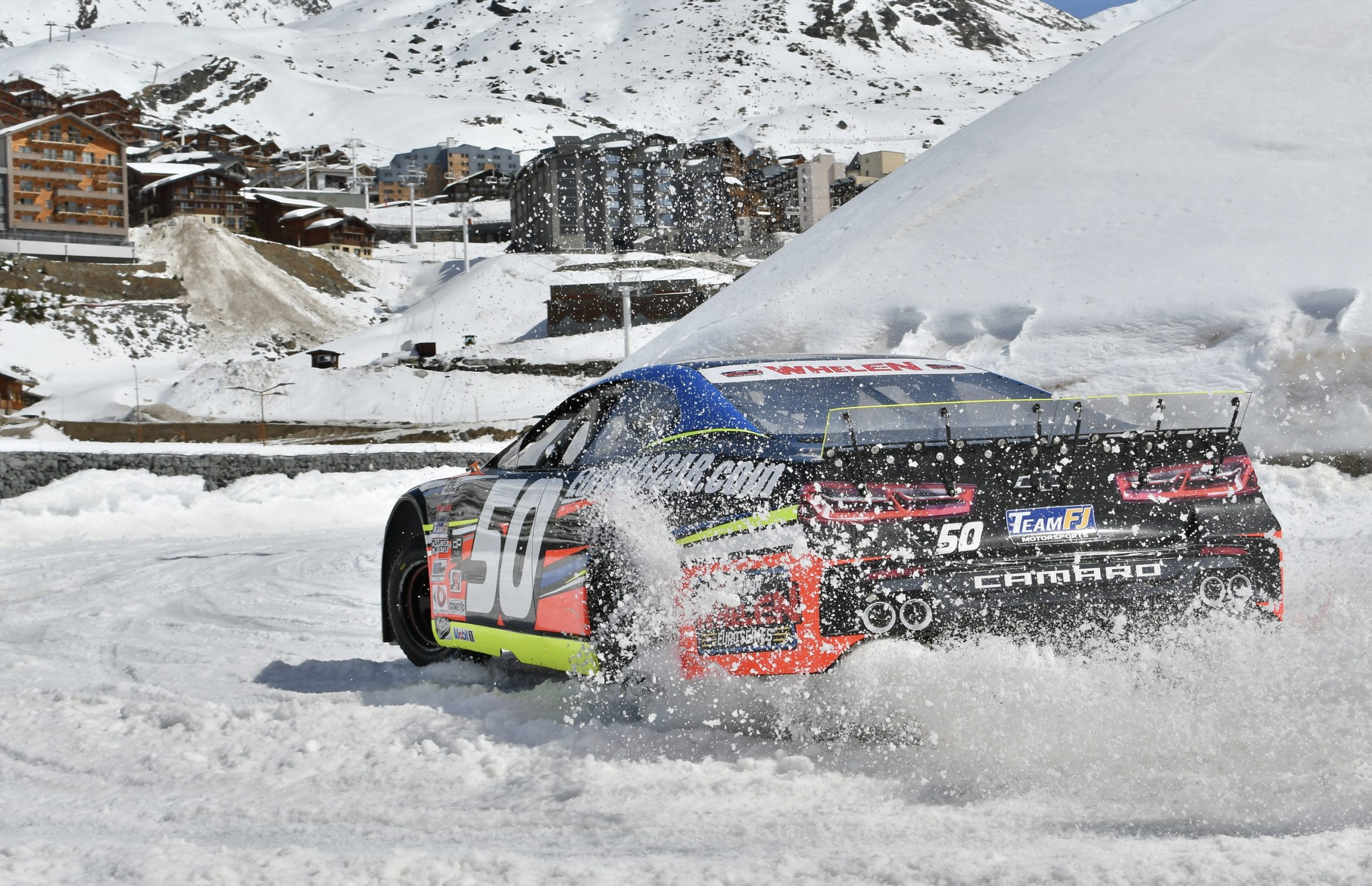 NASCAR … on ice! Euro series experiments with a stocker in the snow