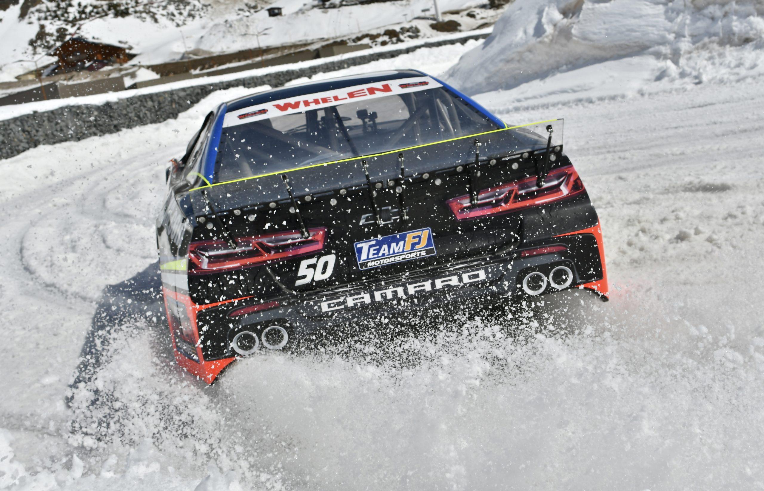 NASCAR on ice rear action