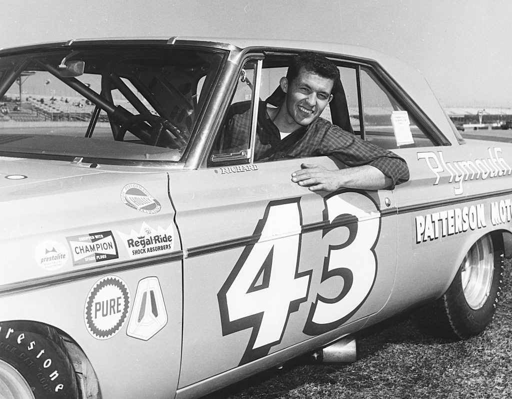 Richard Petty first superspeedway win 1964 Daytona 500 with Chrysler Hemi engine