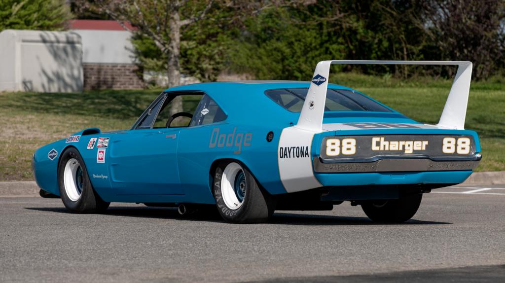 1969 Dodge Charger Daytona NASCAR rear three quarter