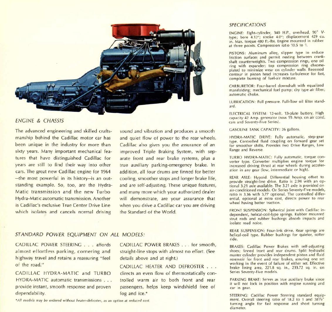 1964 Cadillac 429 brochure