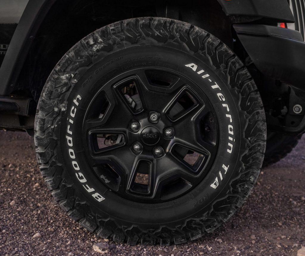 bgf ko2 all terrain tire on jeep wranger
