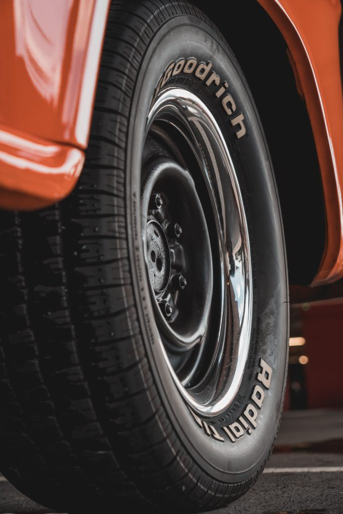 bfg radial tire on muscle car