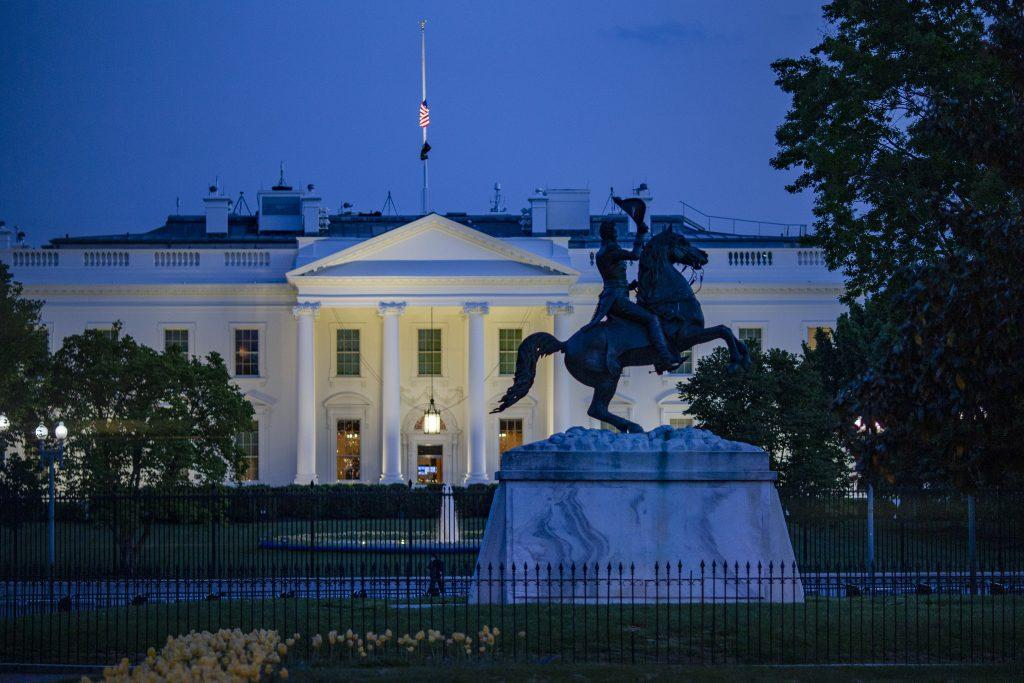 White House Plaza dusk