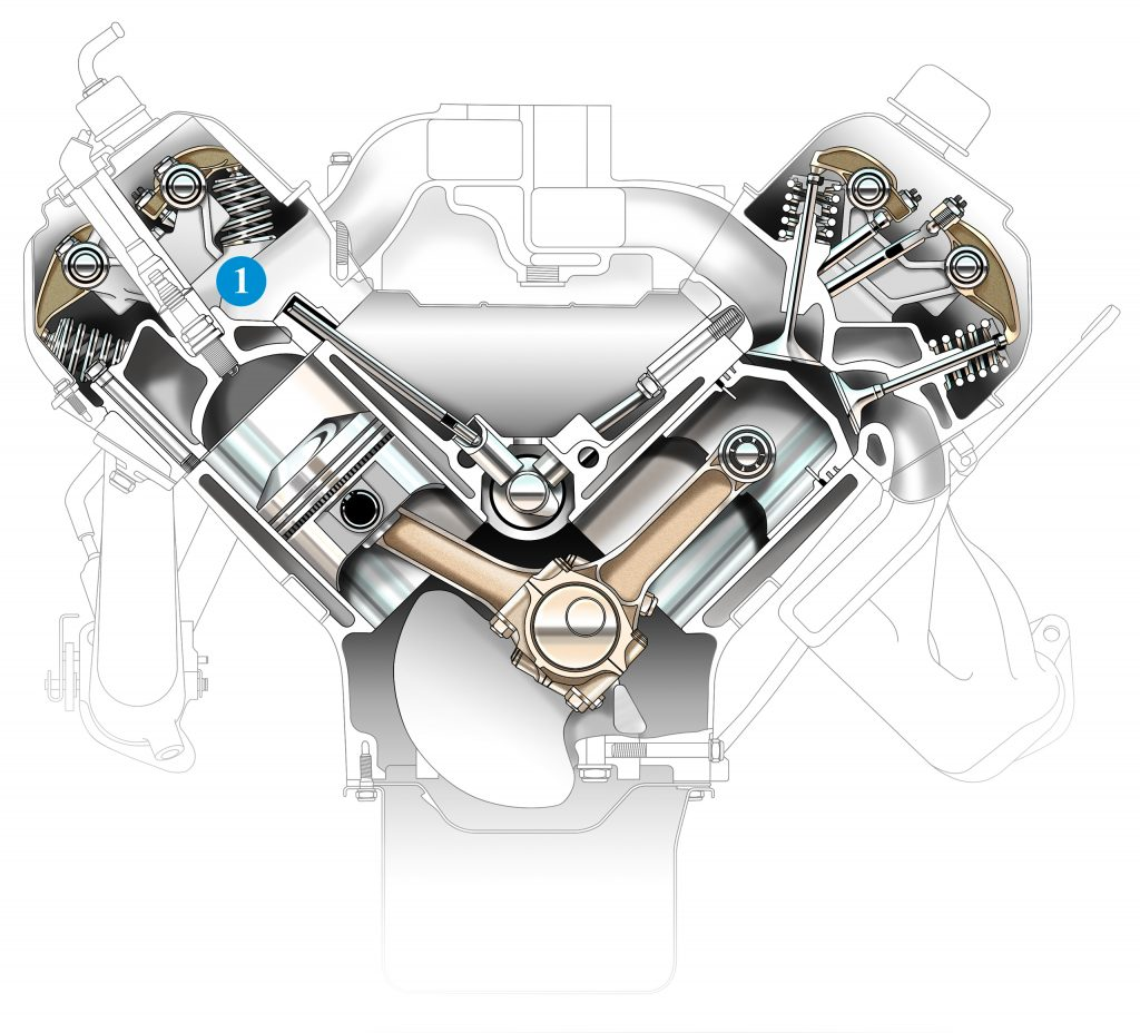 hemi engine cutaway