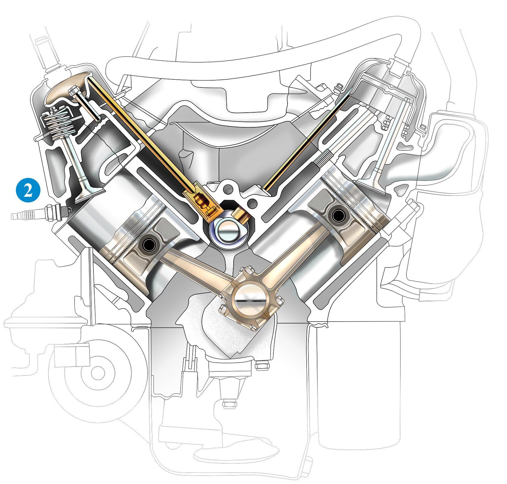wedge engine cutaway