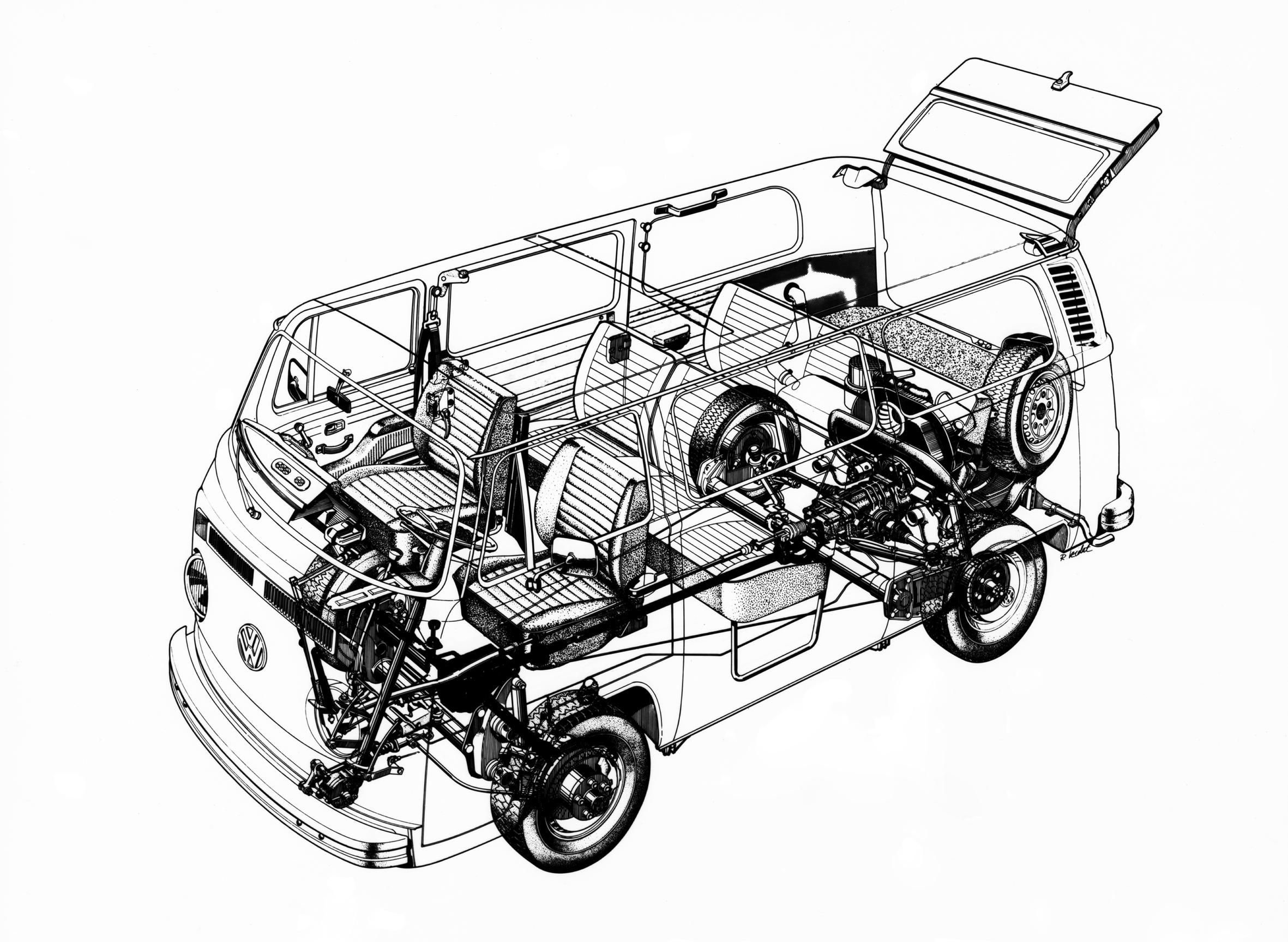 Volkswagen Bus four-wheel-drive (T2 4x4) prototype