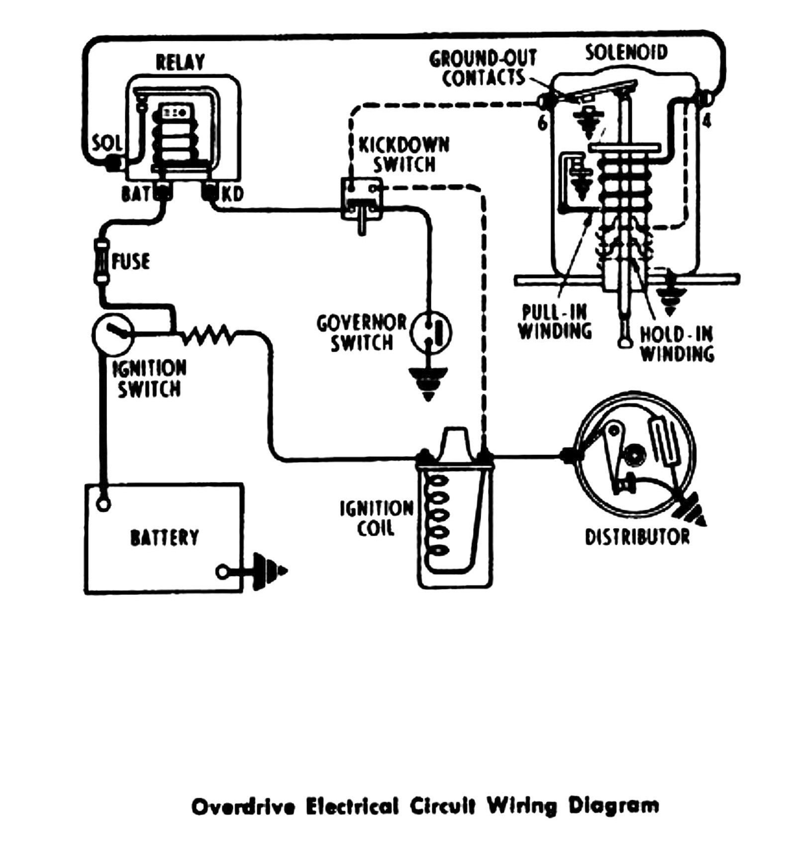 1955 Chevrolet Overdrive wiring