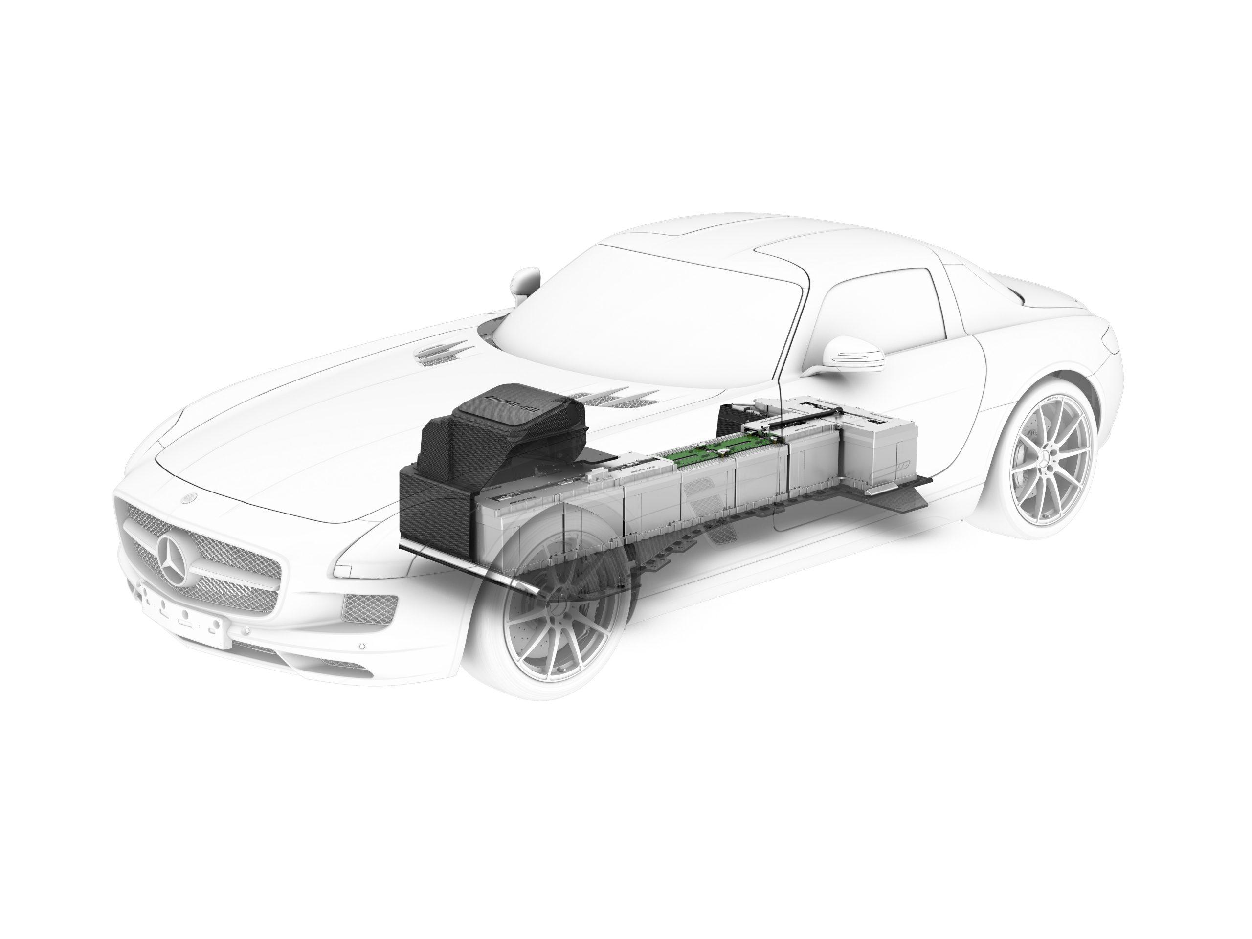 Mercedes-Benz SLS AMG E-CELL powertrain