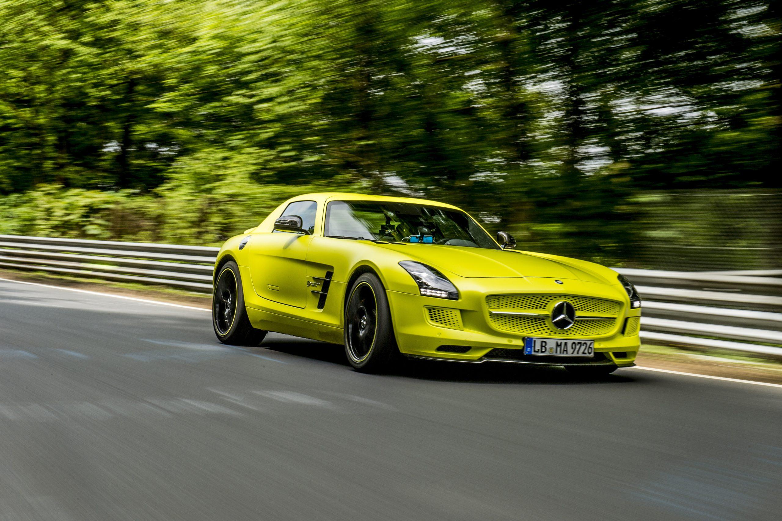 Mercedes-Benz SLS AMG Coupé Electric Drive Nurburgring 2013