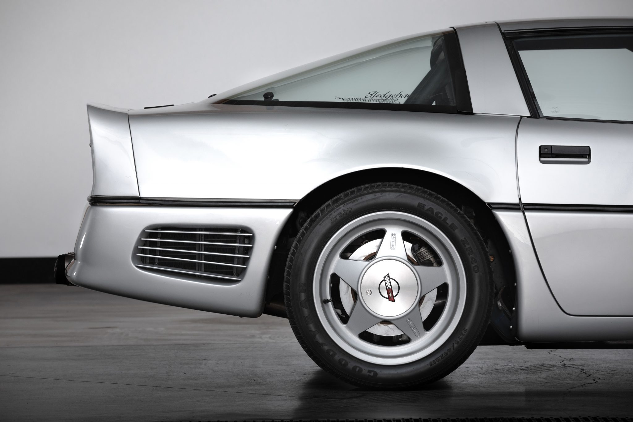 1988 Chevrolet Corvette Callaway SledgeHammer BaT rear profile