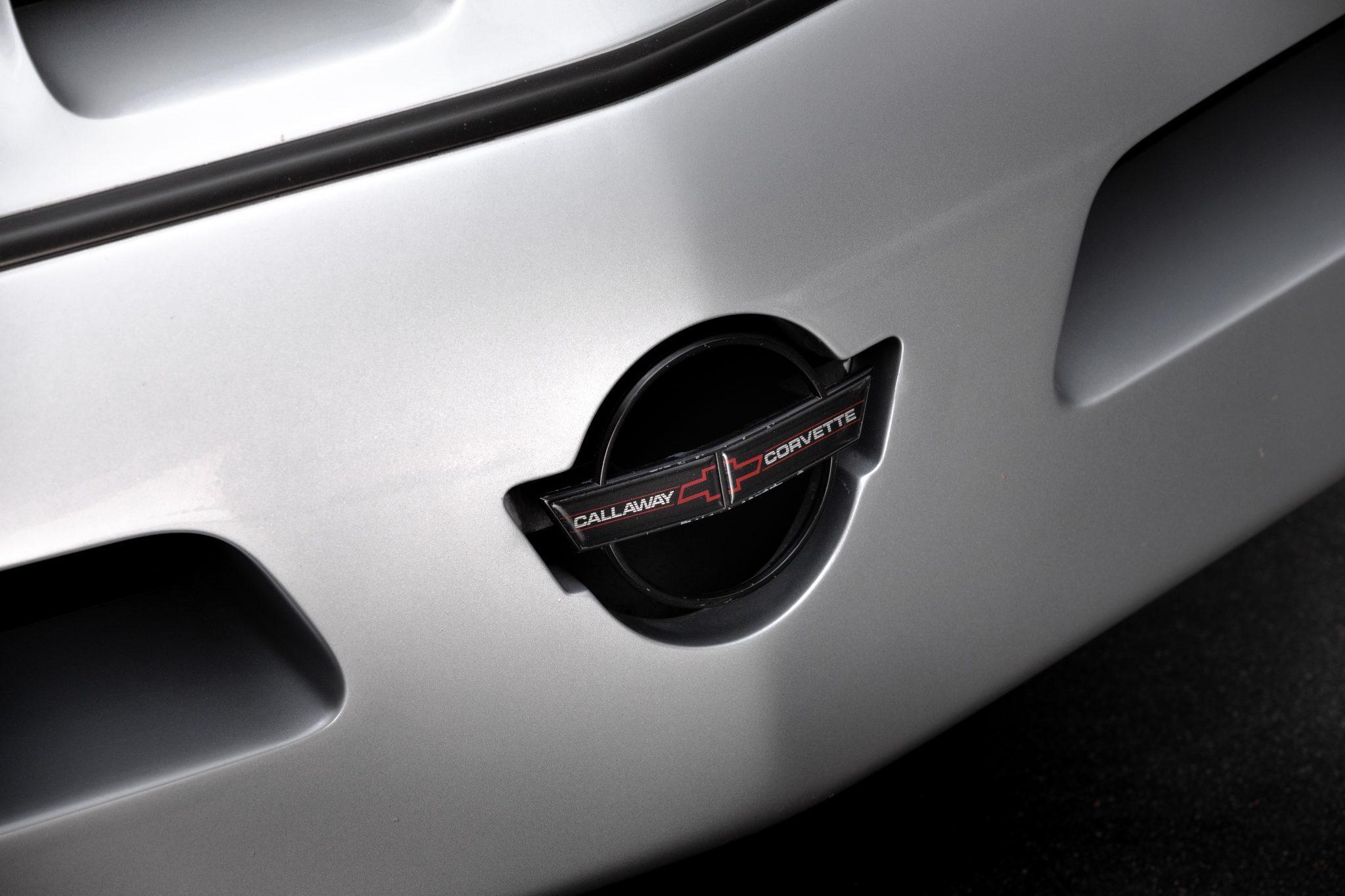 1988 Chevrolet Corvette Callaway SledgeHammer BaT front logo