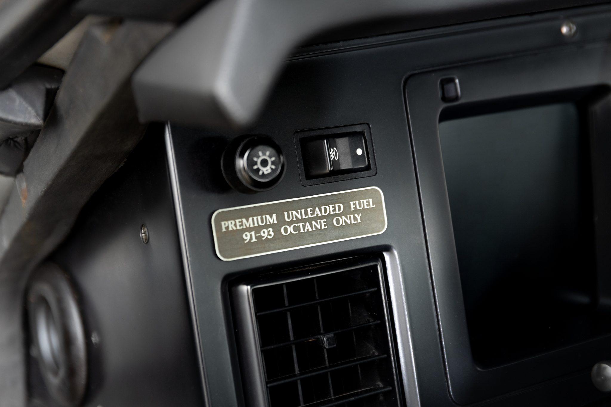 1988 Chevrolet Corvette Callaway SledgeHammer BaT interior fuel