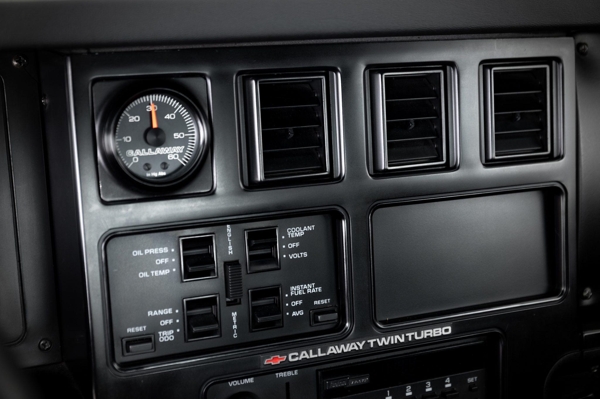 1988 Chevrolet Corvette Callaway SledgeHammer BaT interior console