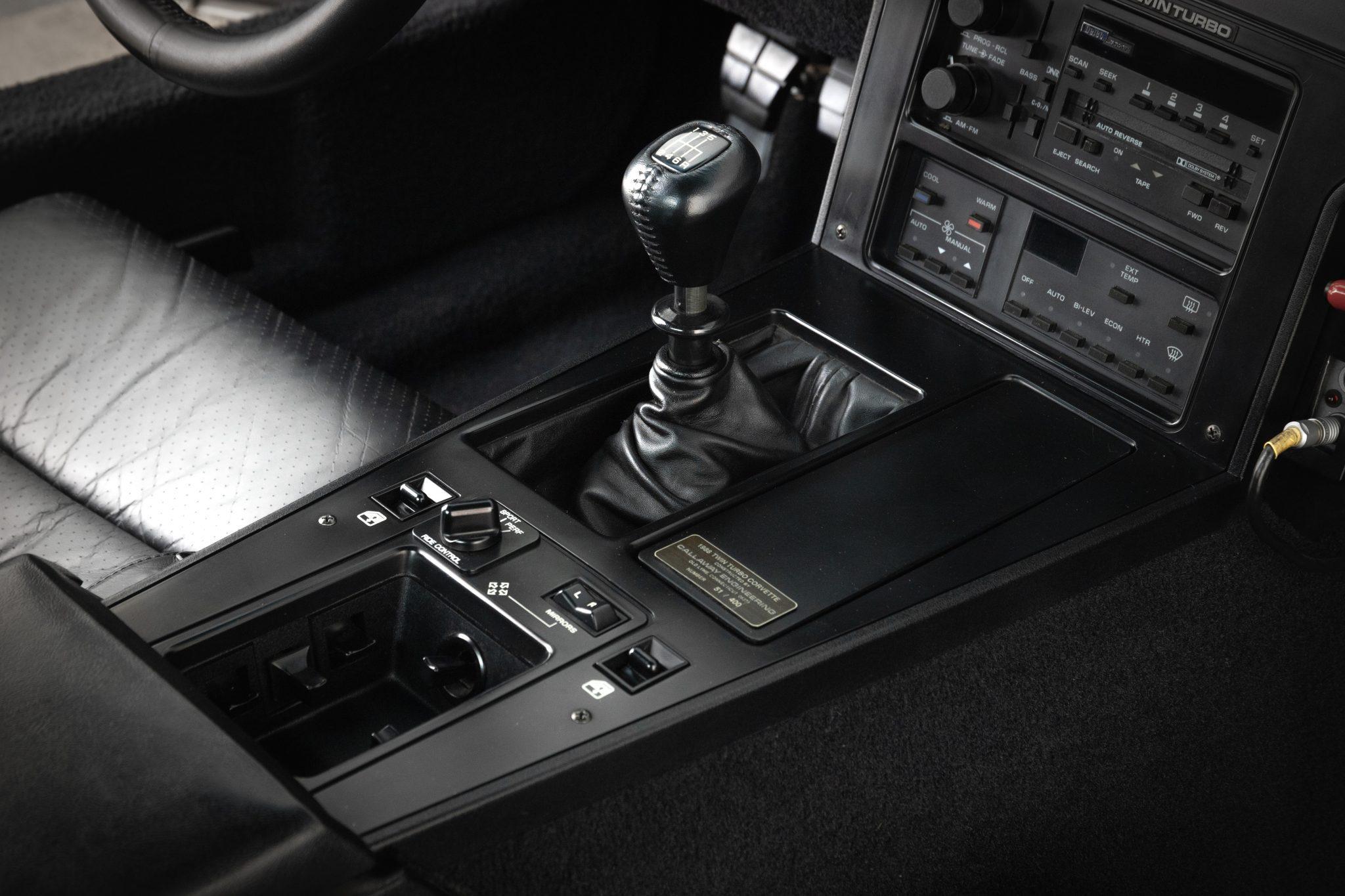 1988 Chevrolet Corvette Callaway SledgeHammer BaT interior console shifter