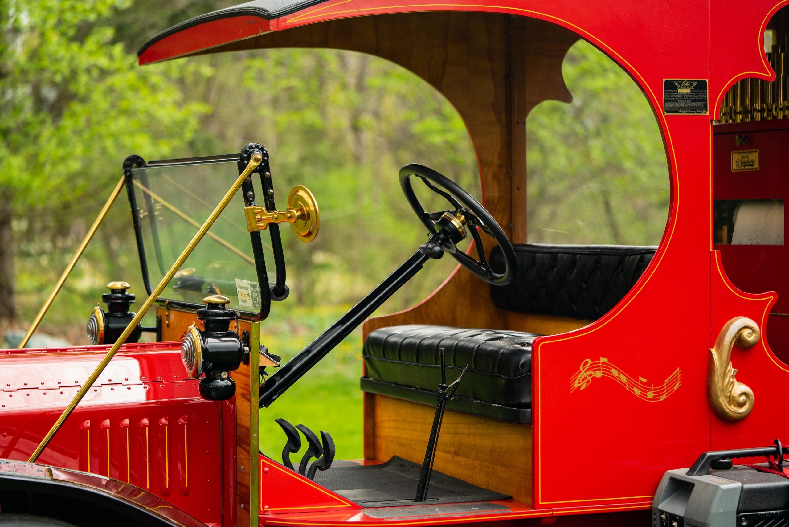 Ford Model T Organ Car cockpit