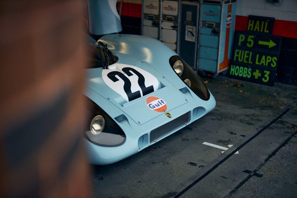 Porsche 917 K racecar front hood livery
