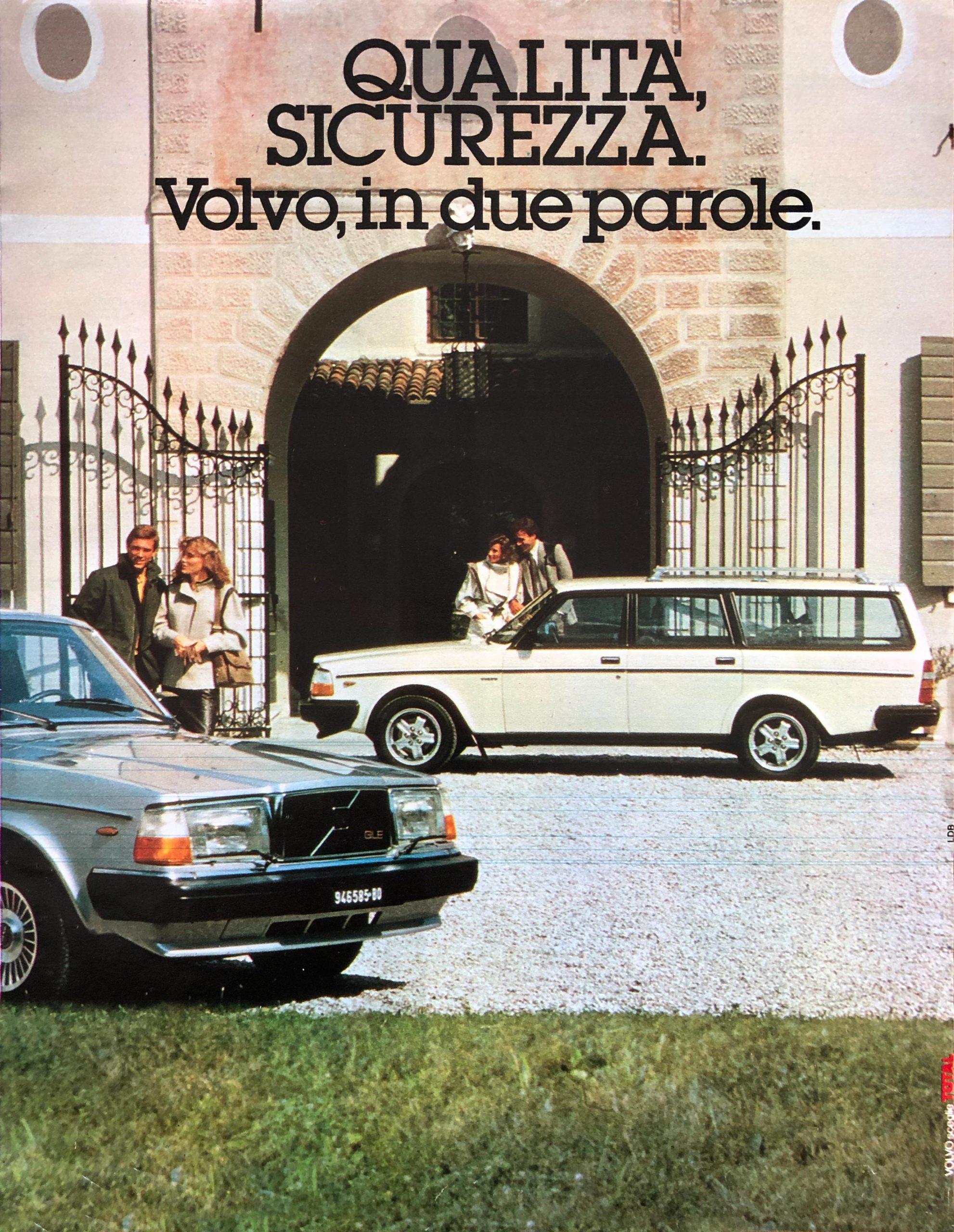 1983 Volvo 245 Turbo magazine ad italian