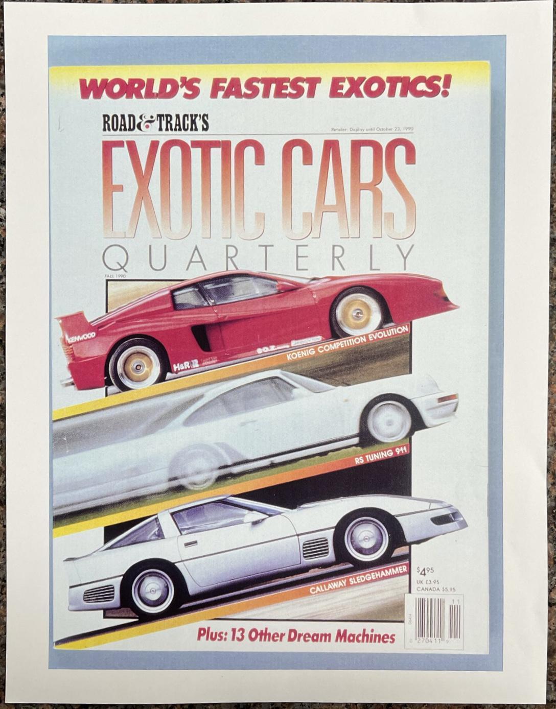 1988 Chevrolet Corvette Callaway SledgeHammer BaT R&T cover