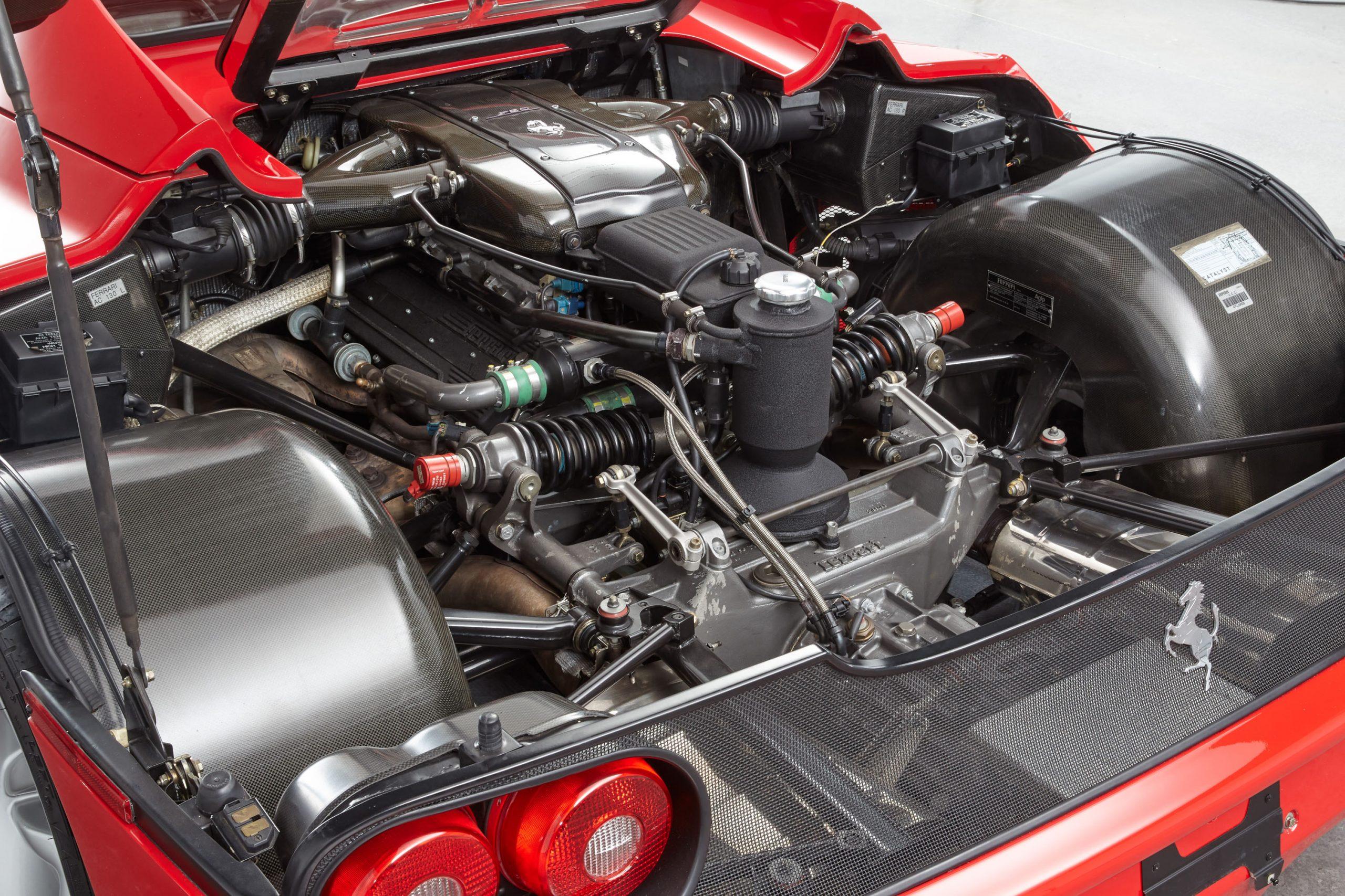 1995 Ferrari F50 engine bay