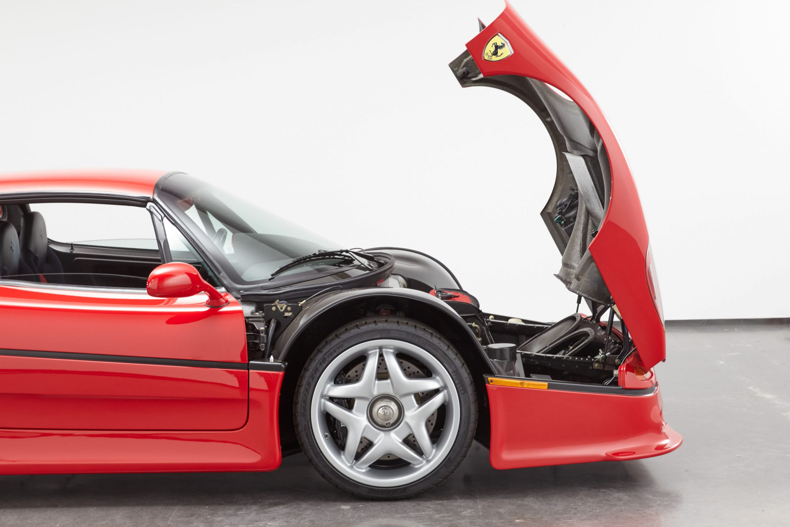 1995 Ferrari F50 front hood open