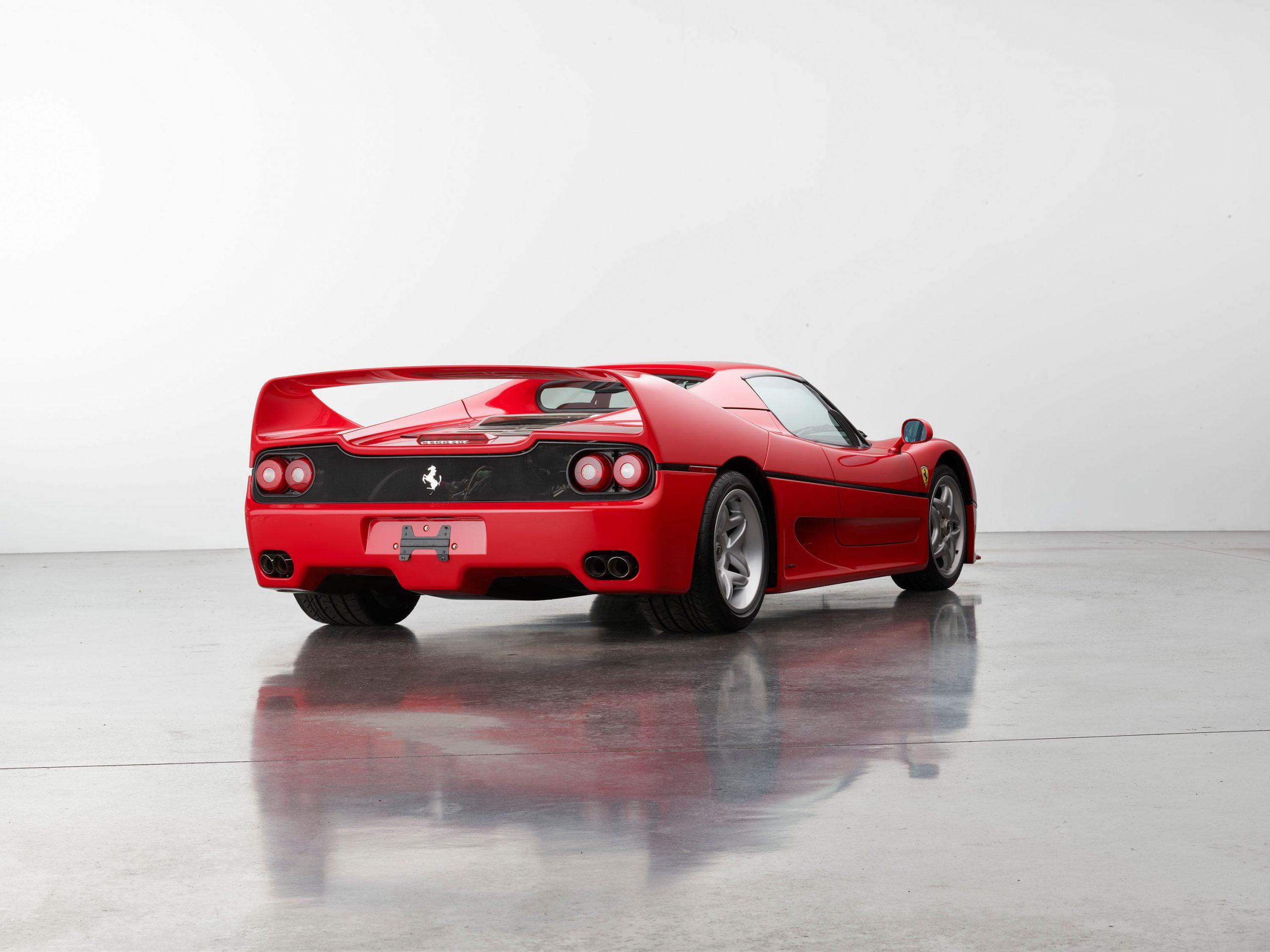 1995 Ferrari F50 rear three-quarter