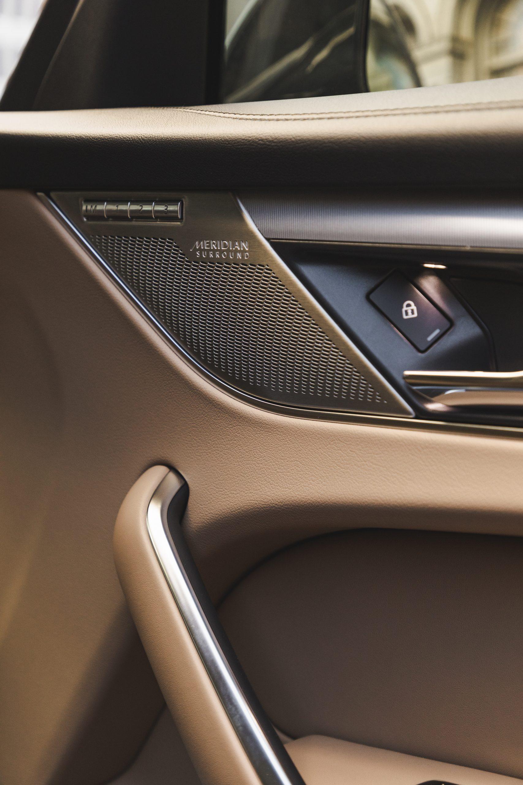 2021 Jaguar F-PACE S P340 interior door meridian speaker