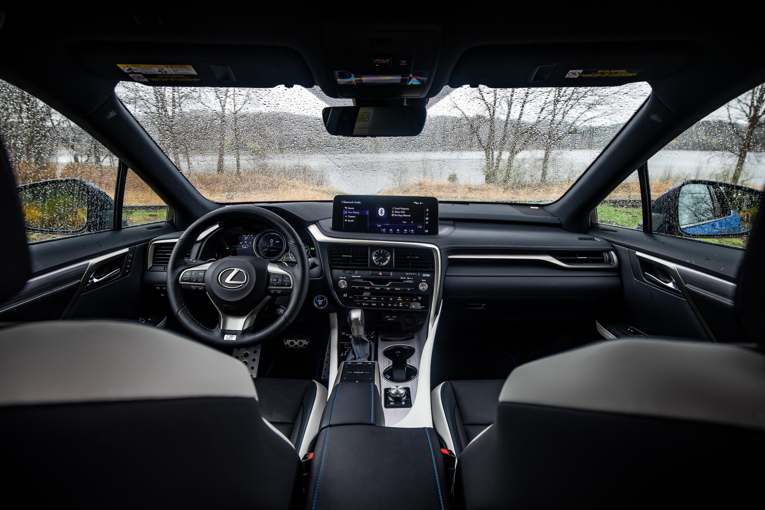 2021 Lexus RX450h interior front wide