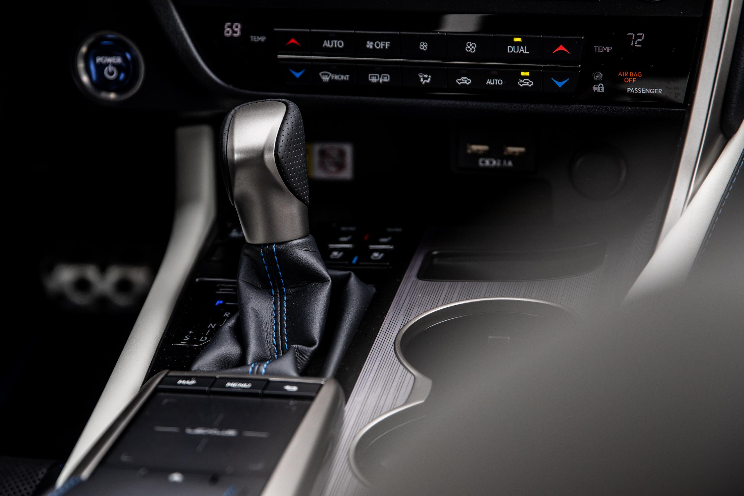2021 Lexus RX450h interior shifter
