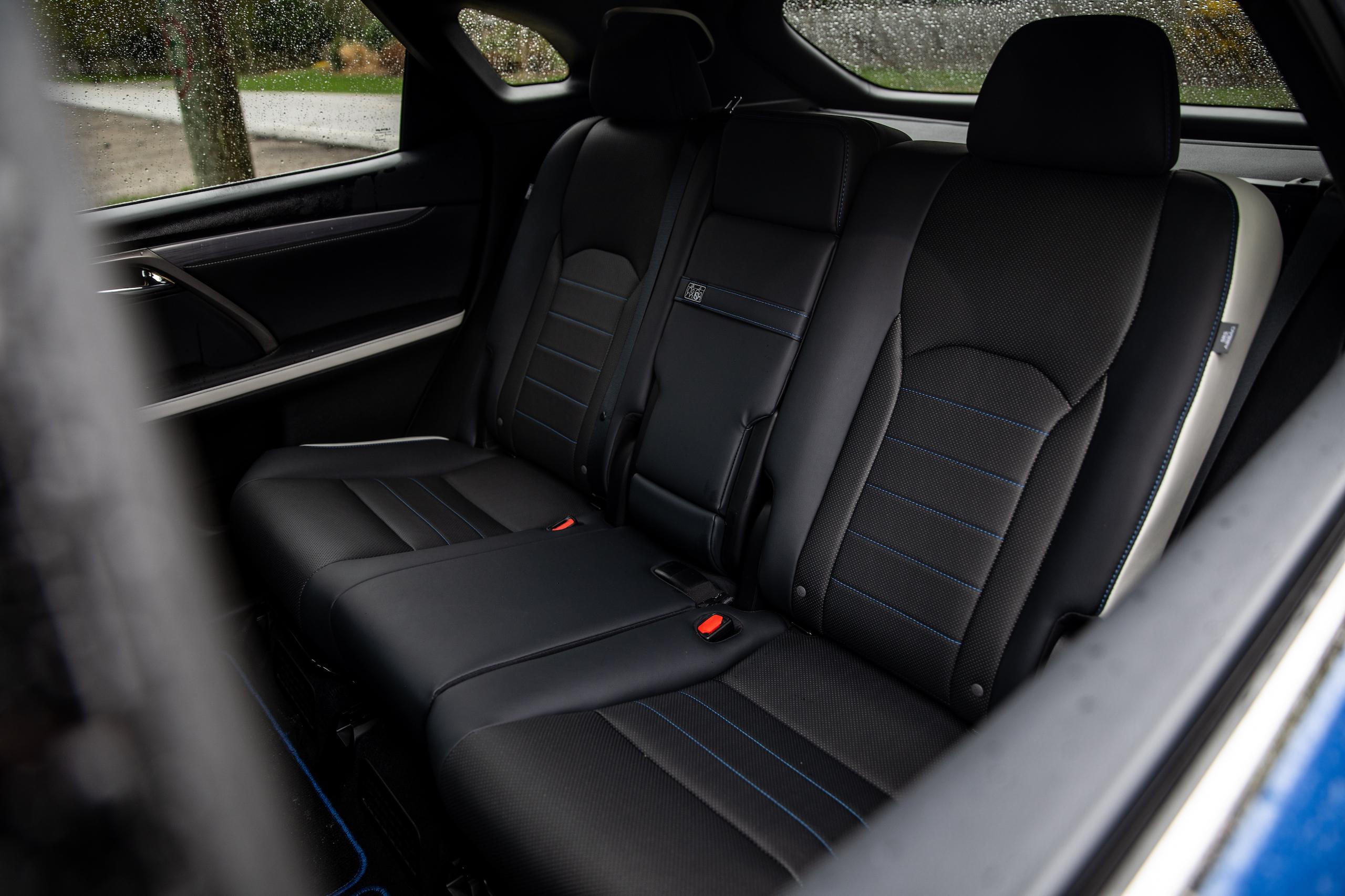 2021 Lexus RX450h interior rear seat